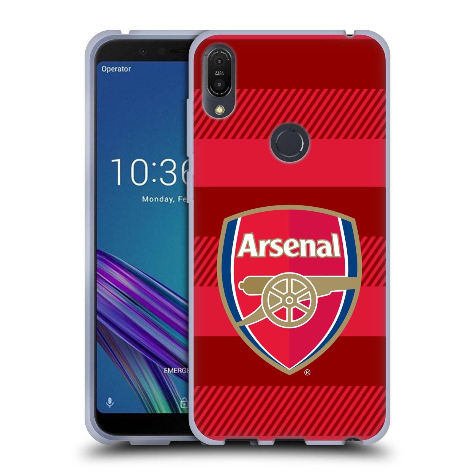 Silikonové pouzdro na mobil Asus ZenFone Max Pro (M1) - Head Case - Arsenal FC - Logo s pruhy