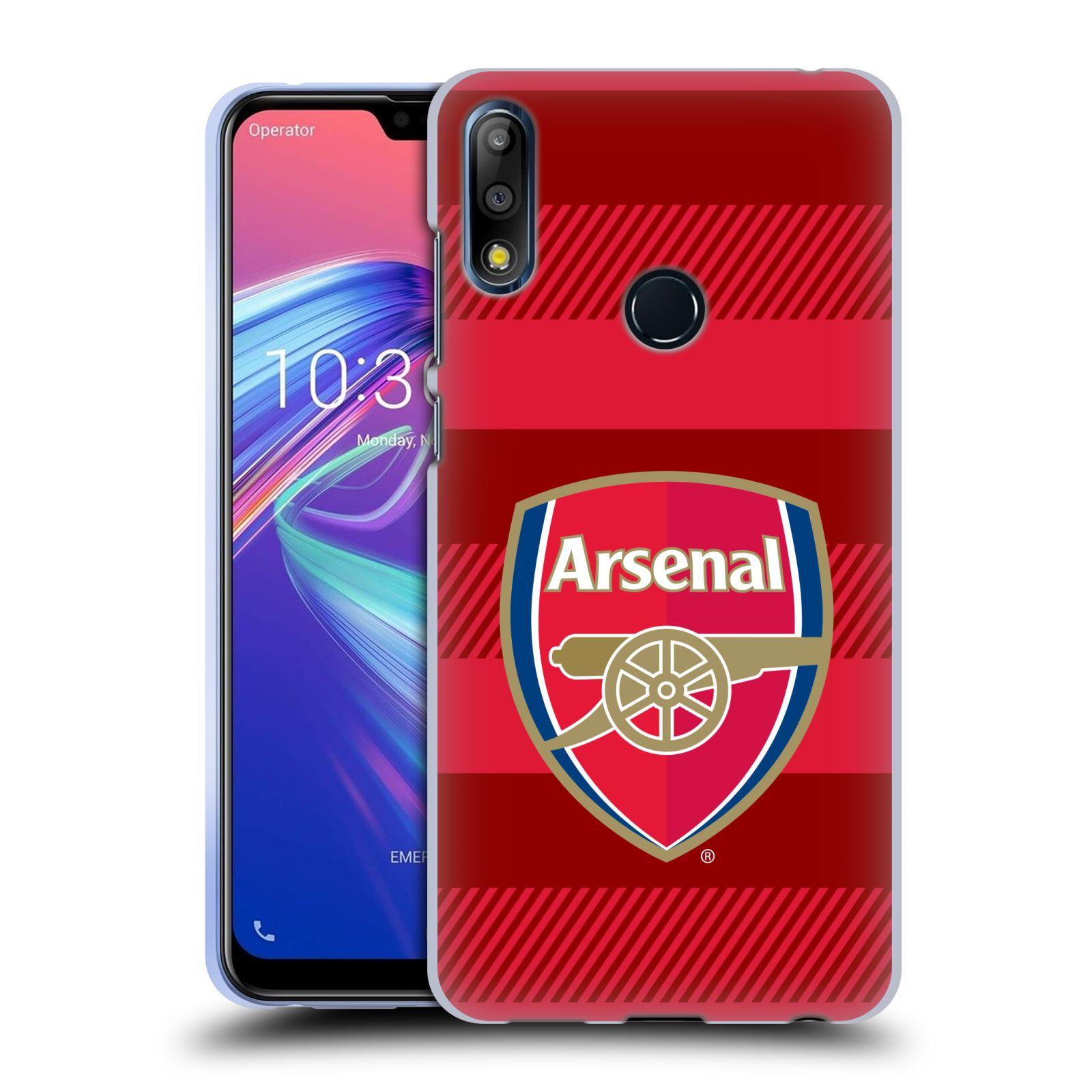 Silikonové pouzdro na mobil Asus Zenfone Max Pro M2 ZB631KL - Head Case - Arsenal FC - Logo s pruhy