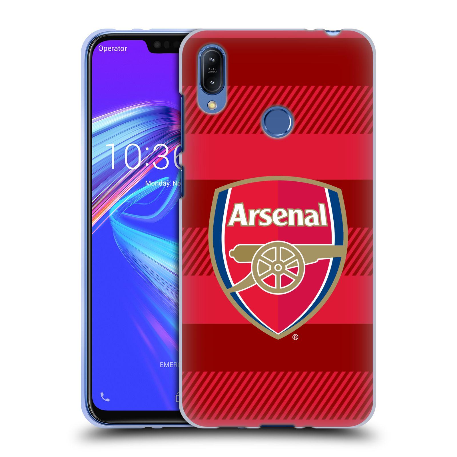 Silikonové pouzdro na mobil Asus Zenfone Max (M2) ZB633KL - Head Case - Arsenal FC - Logo s pruhy