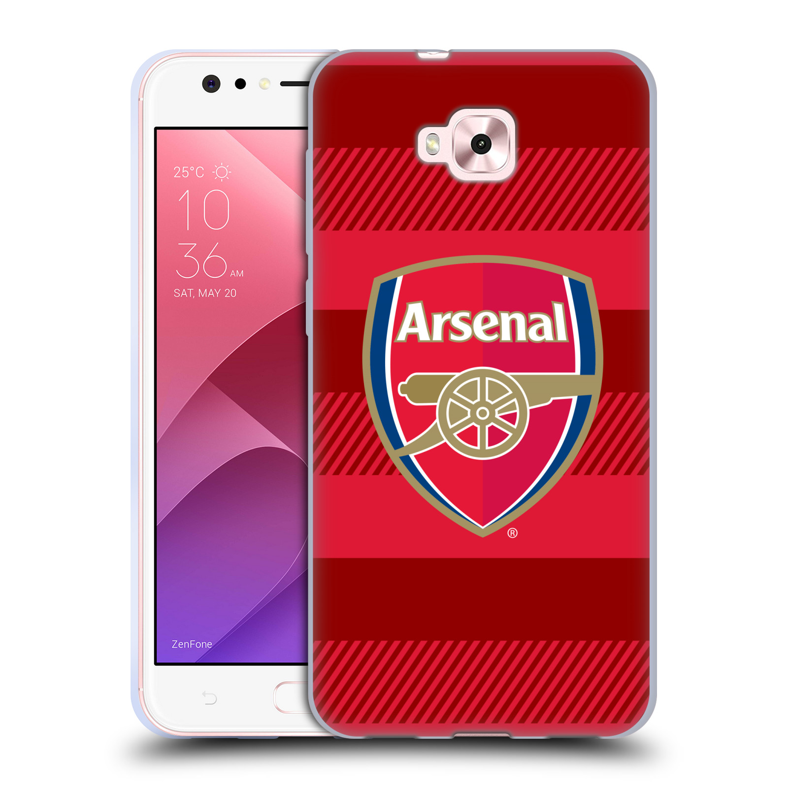 Silikonové pouzdro na mobil Asus Zenfone 4 Selfie ZD553KL - Head Case - Arsenal FC - Logo s pruhy