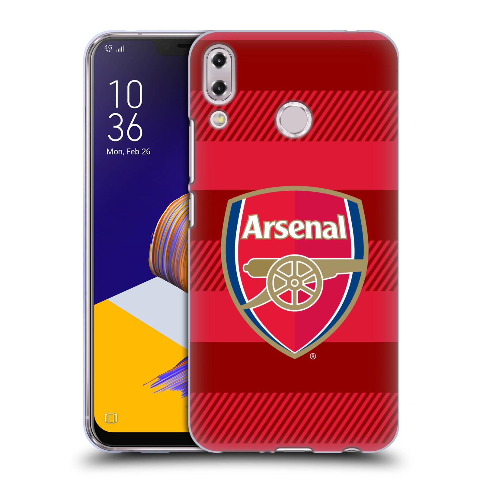 Silikonové pouzdro na mobil Asus ZenFone 5 ZE620KL - Head Case - Arsenal FC - Logo s pruhy