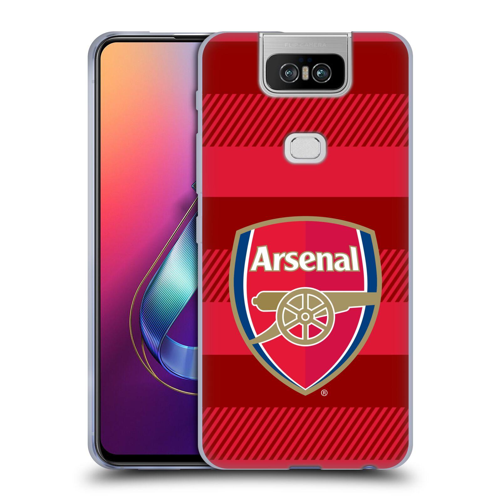 Silikonové pouzdro na mobil Asus Zenfone 6 ZS630KL - Head Case - Arsenal FC - Logo s pruhy