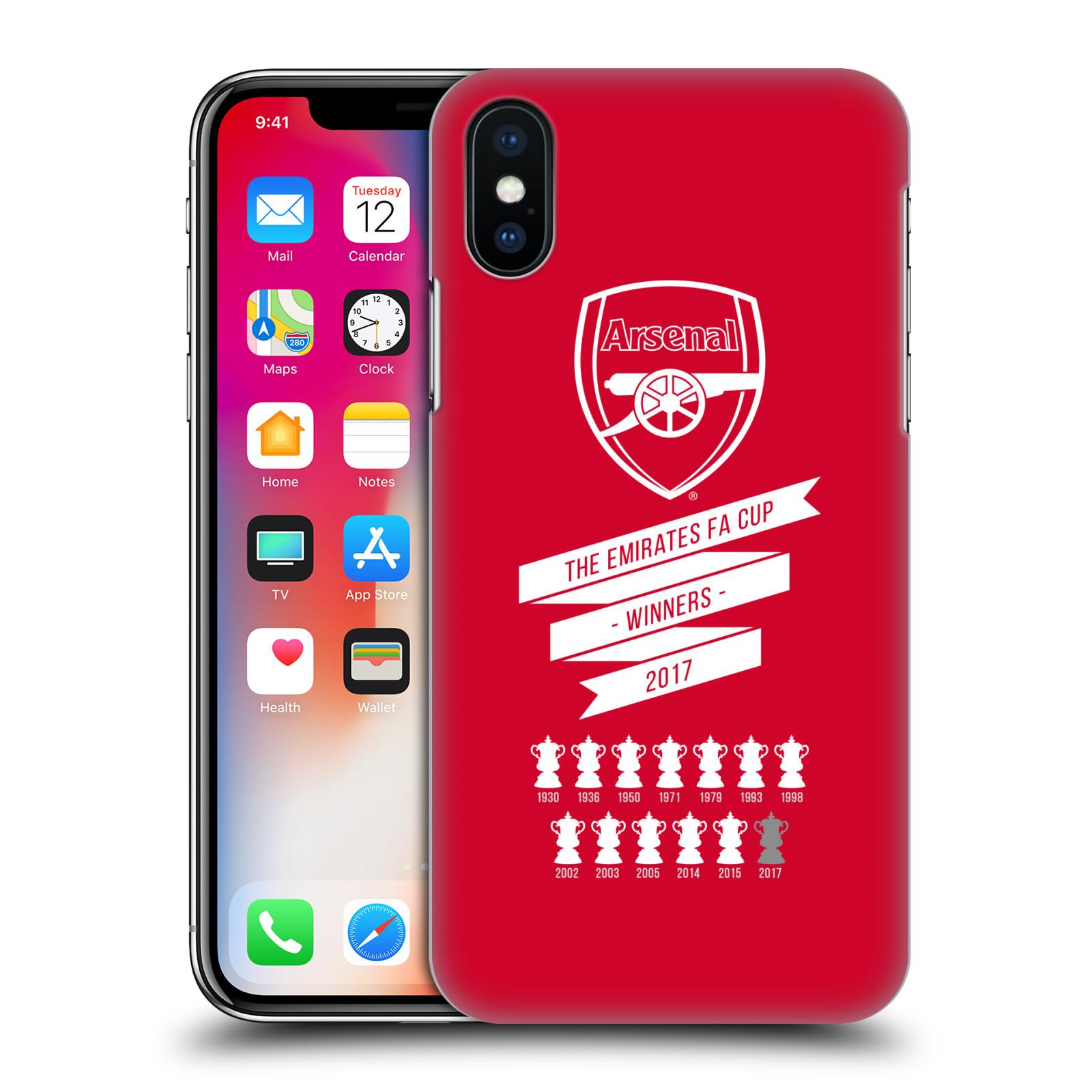 Plastové pouzdro na mobil Apple iPhone X - Head Case - Arsenal FC - 13 Wins
