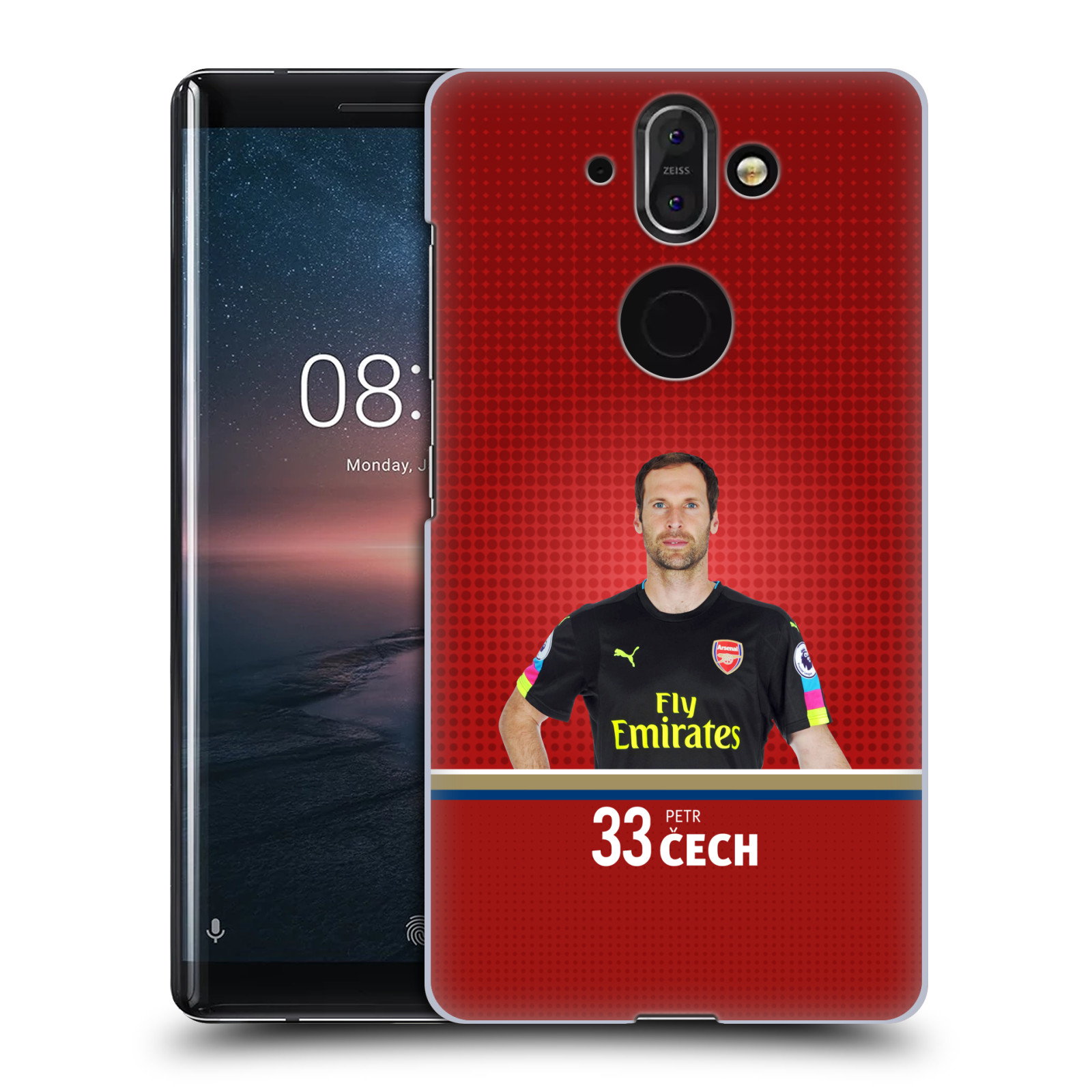 Plastové pouzdro na mobil Nokia 8 Sirocco - Head Case - Arsenal FC - Petr Čech