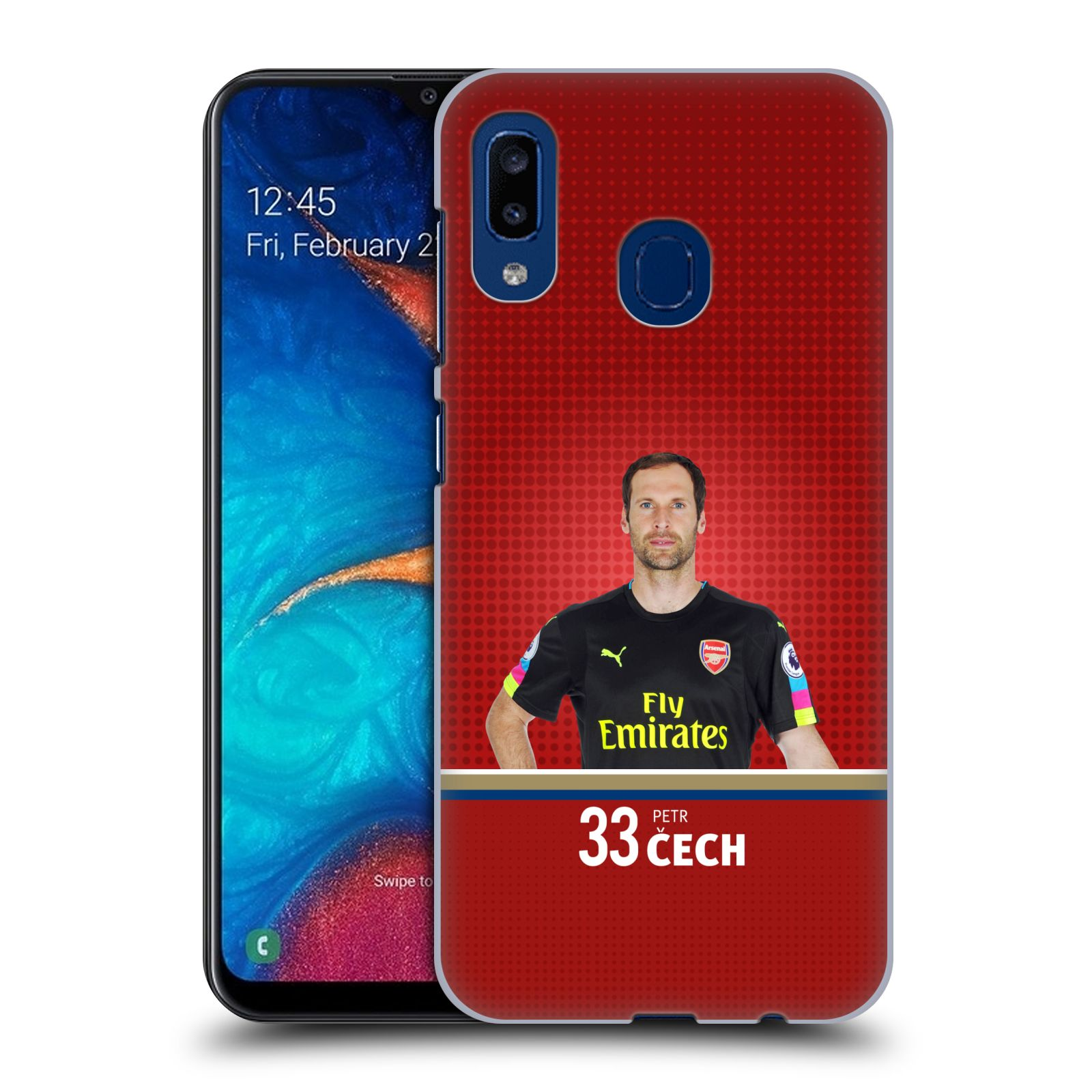 Plastové pouzdro na mobil Samsung Galaxy A20 - Head Case - Arsenal FC - Petr Čech