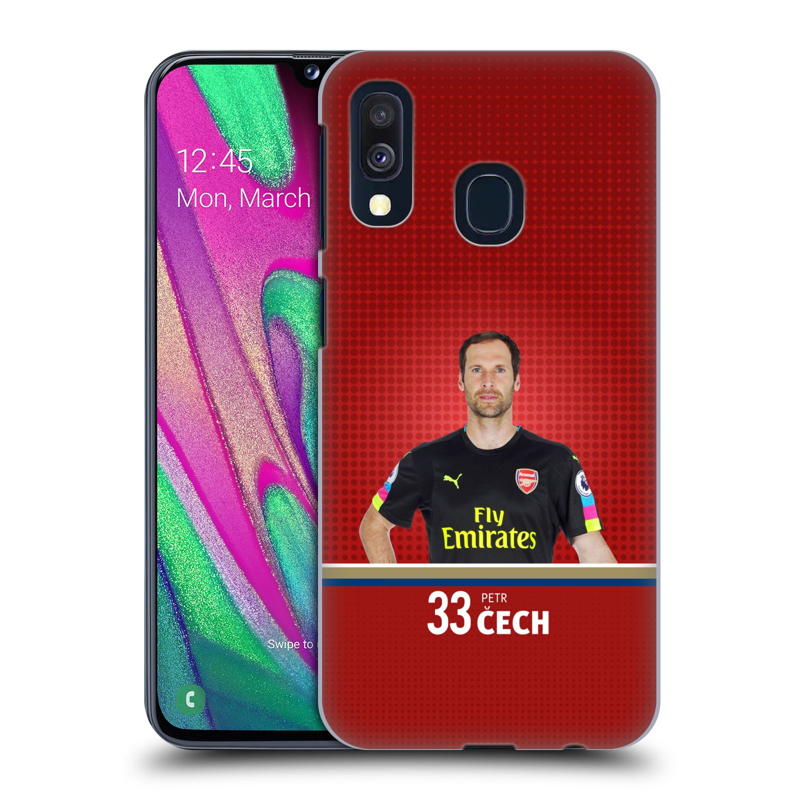Plastové pouzdro na mobil Samsung Galaxy A40 - Head Case - Arsenal FC - Petr Čech