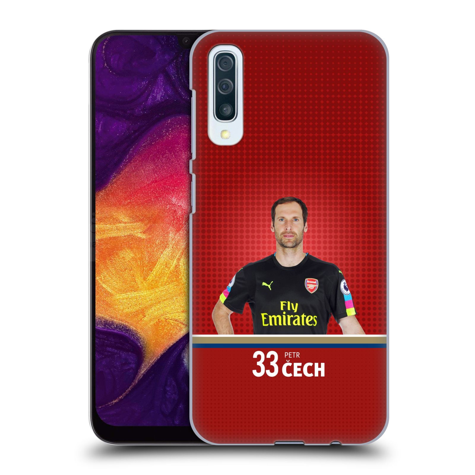 Plastové pouzdro na mobil Samsung Galaxy A50 - Head Case - Arsenal FC - Petr Čech