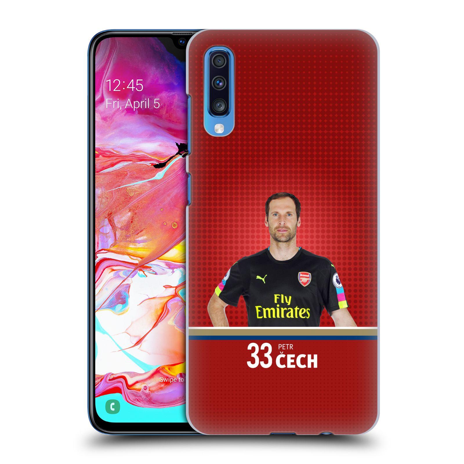 Plastové pouzdro na mobil Samsung Galaxy A70 - Head Case - Arsenal FC - Petr Čech