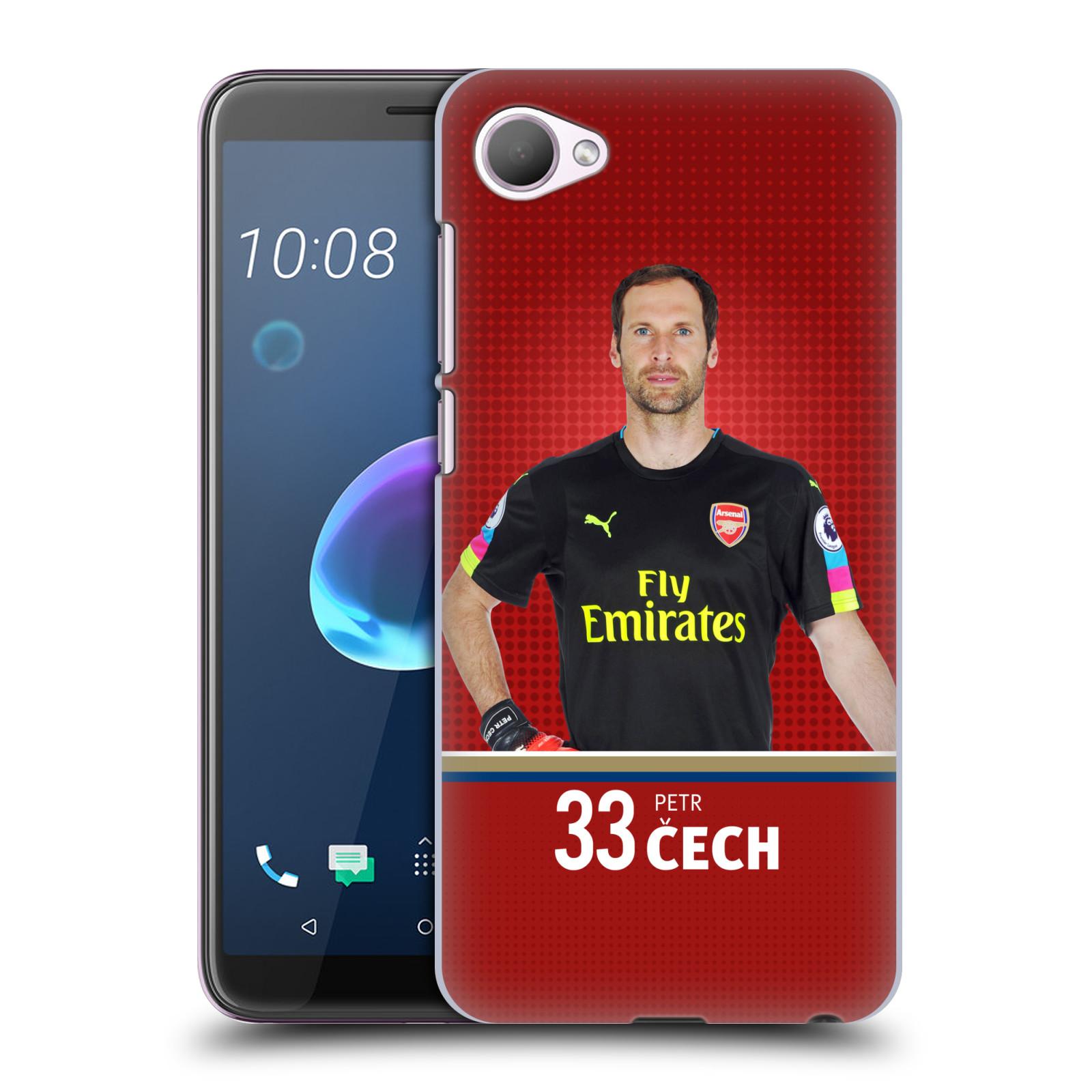 Plastové pouzdro na mobil HTC Desire 12 - Head Case - Arsenal FC - Petr Čech