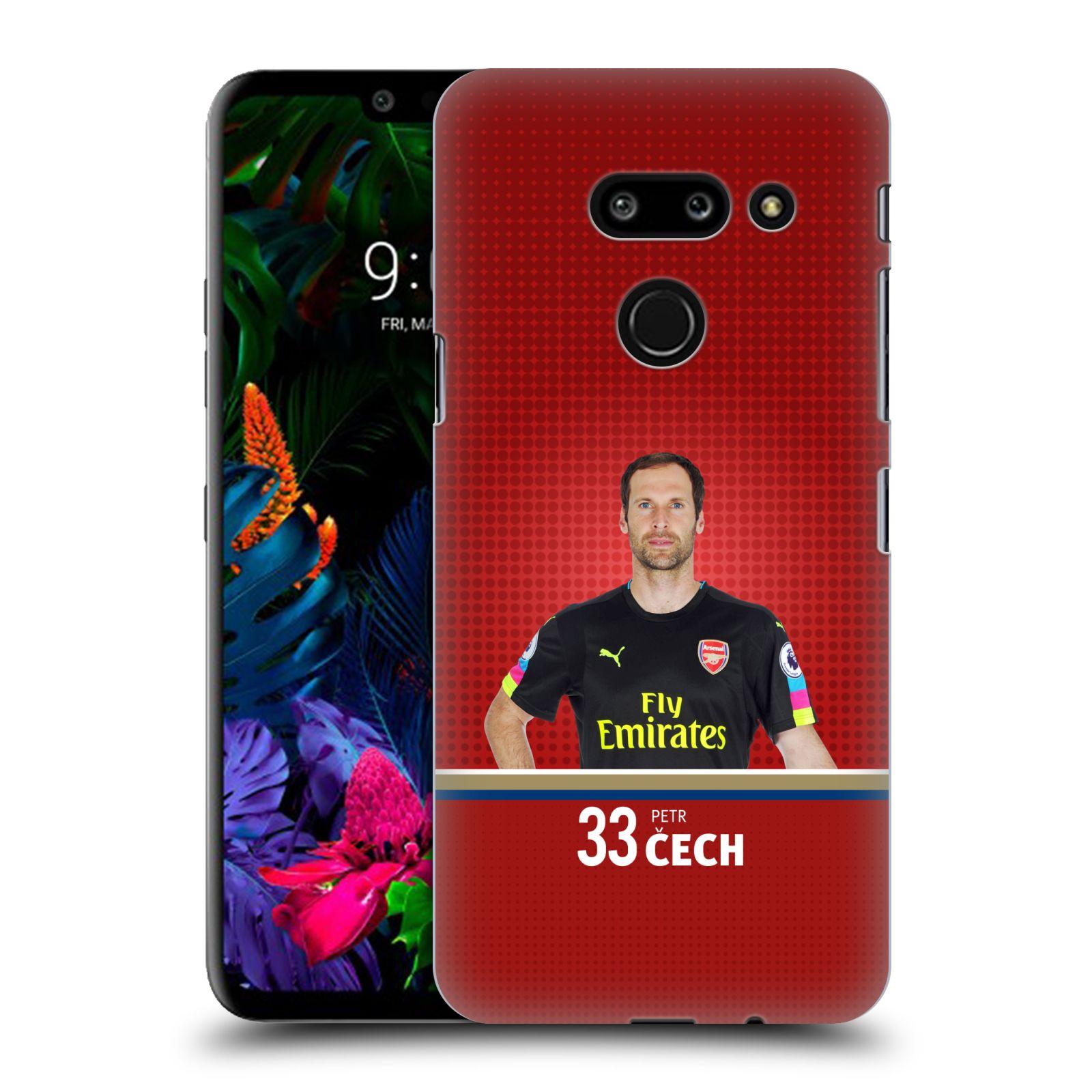Plastové pouzdro na mobil LG G8 ThinQ - Head Case - Arsenal FC - Petr Čech