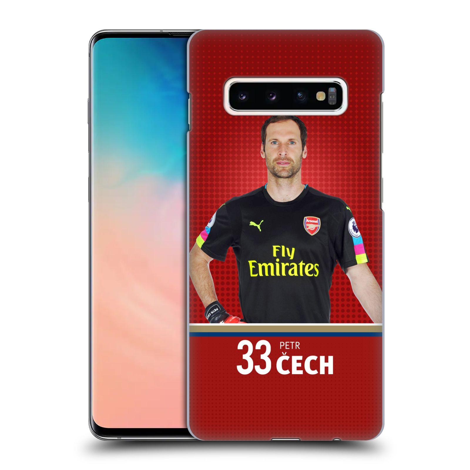Plastové pouzdro na mobil Samsung Galaxy S10 Plus - Head Case - Arsenal FC - Petr Čech