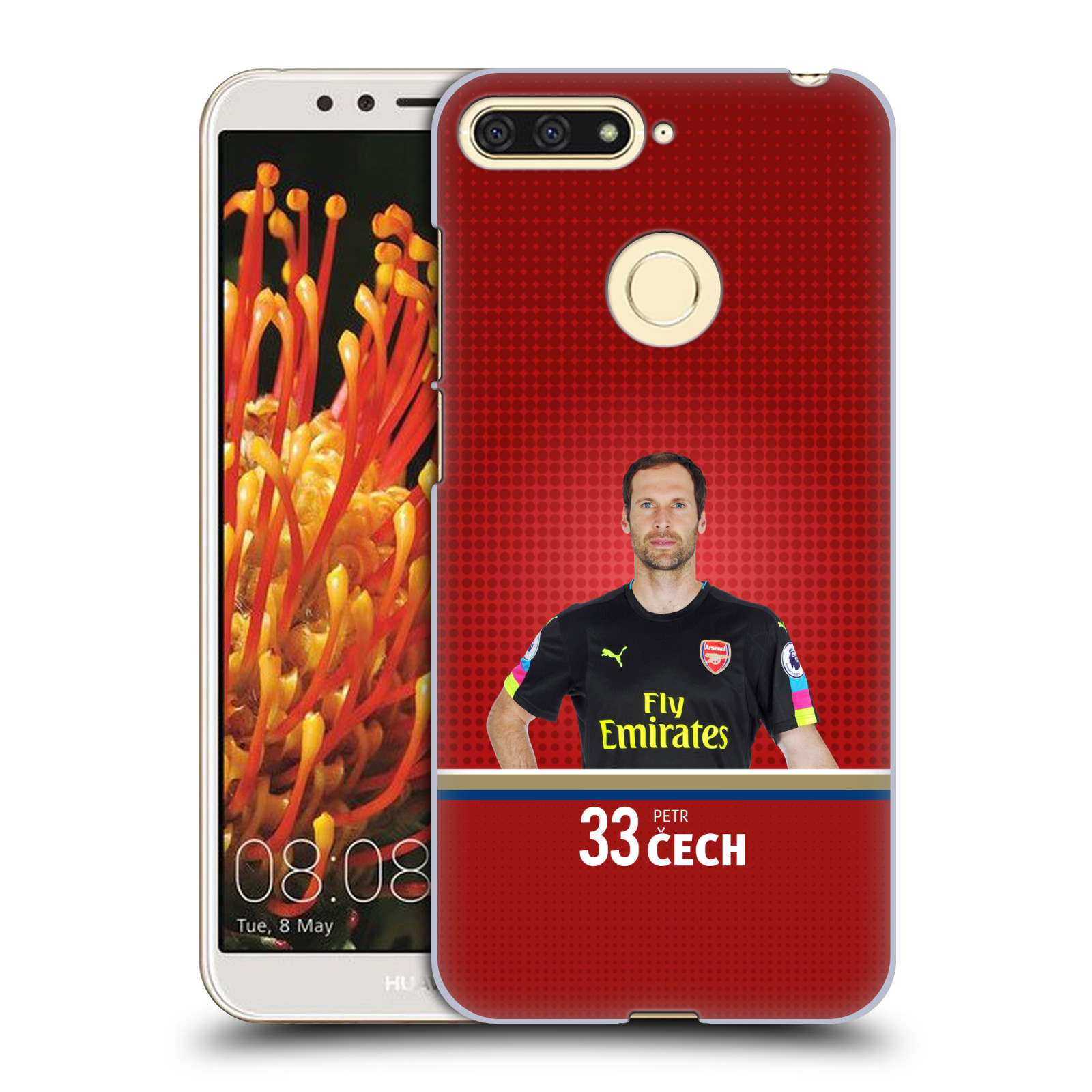 Plastové pouzdro na mobil Huawei Y6 Prime 2018 - Head Case - Arsenal FC - Petr Čech