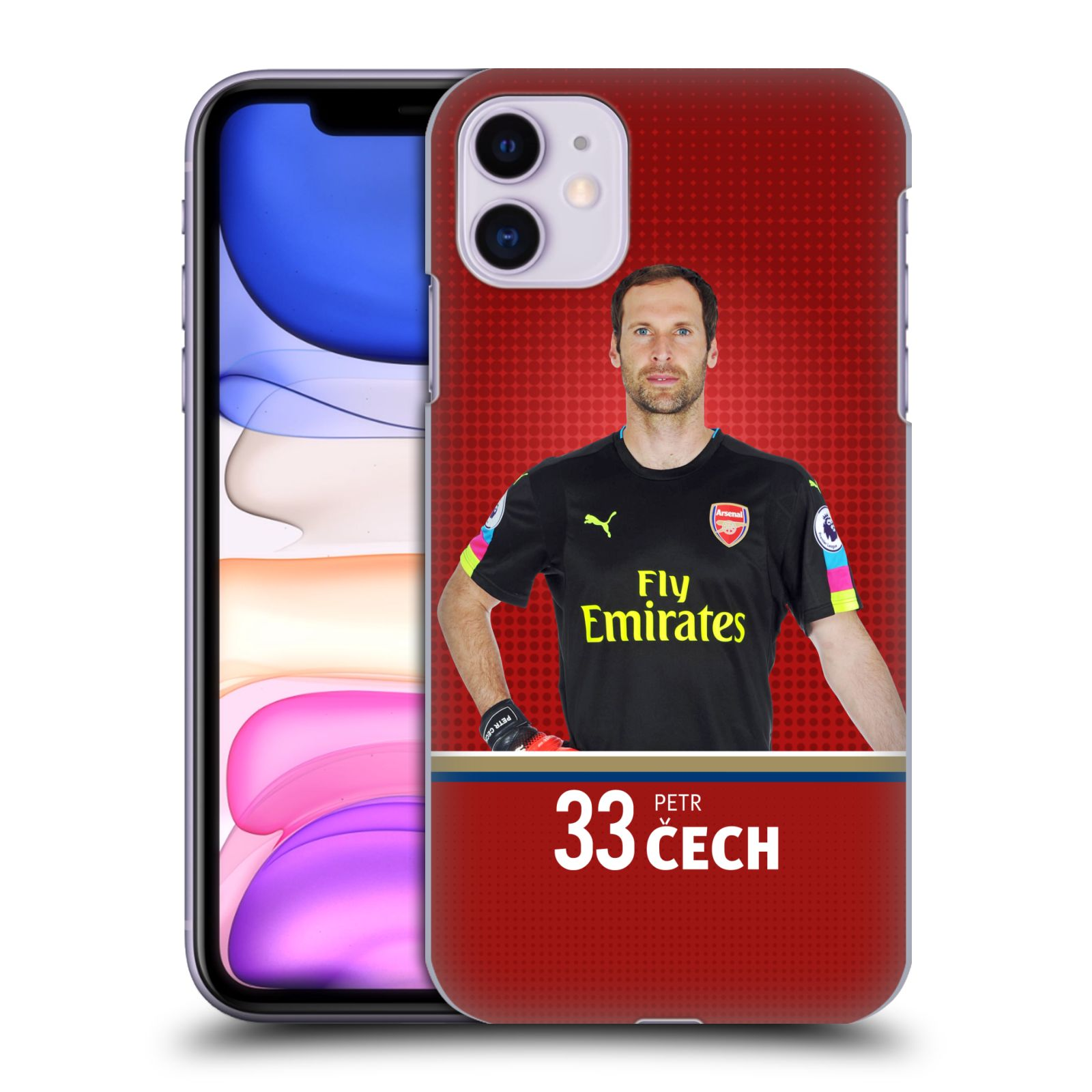 Plastové pouzdro na mobil Apple iPhone 11 - Head Case - Arsenal FC - Petr Čech