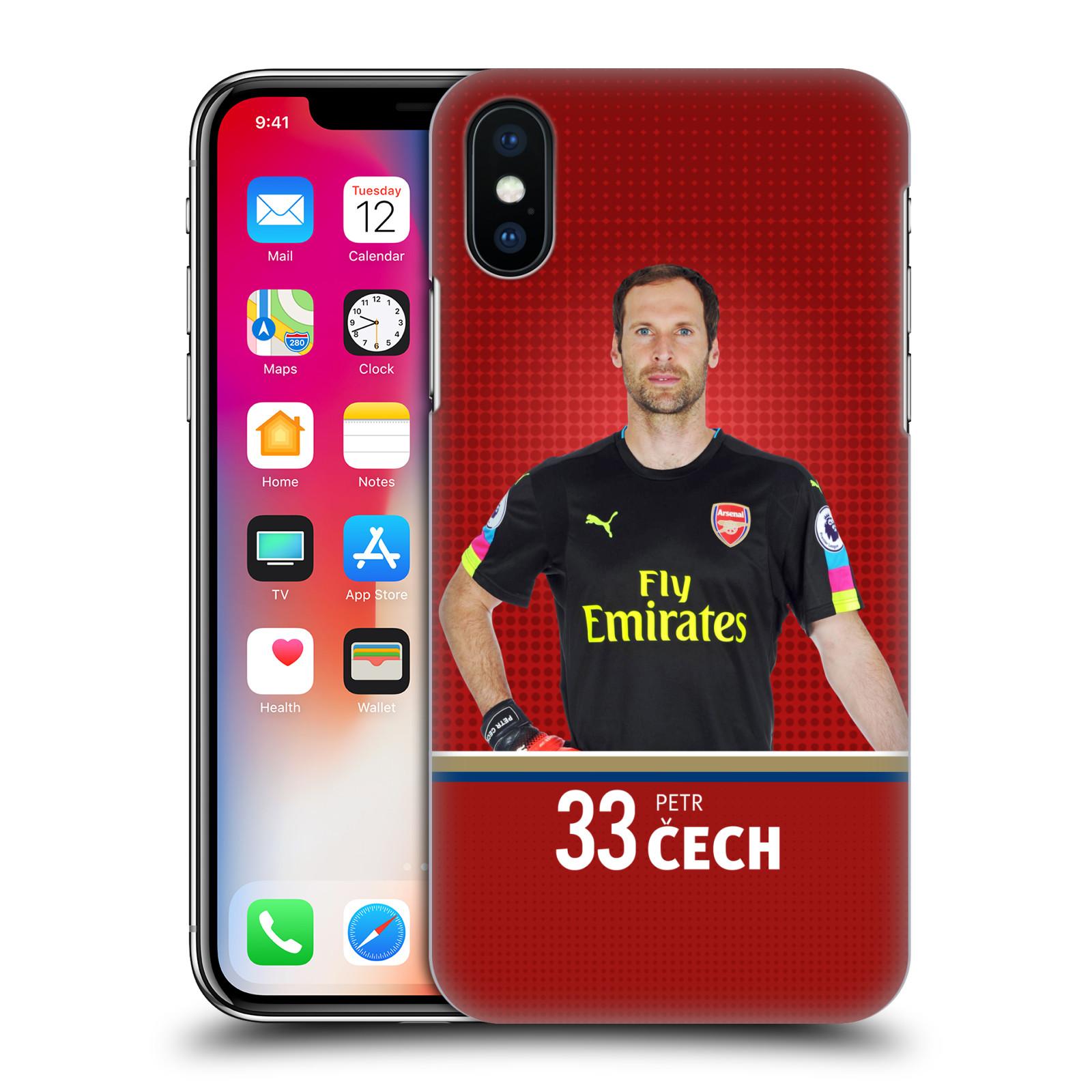 Plastové pouzdro na mobil Apple iPhone X - Head Case - Arsenal FC - Petr Čech