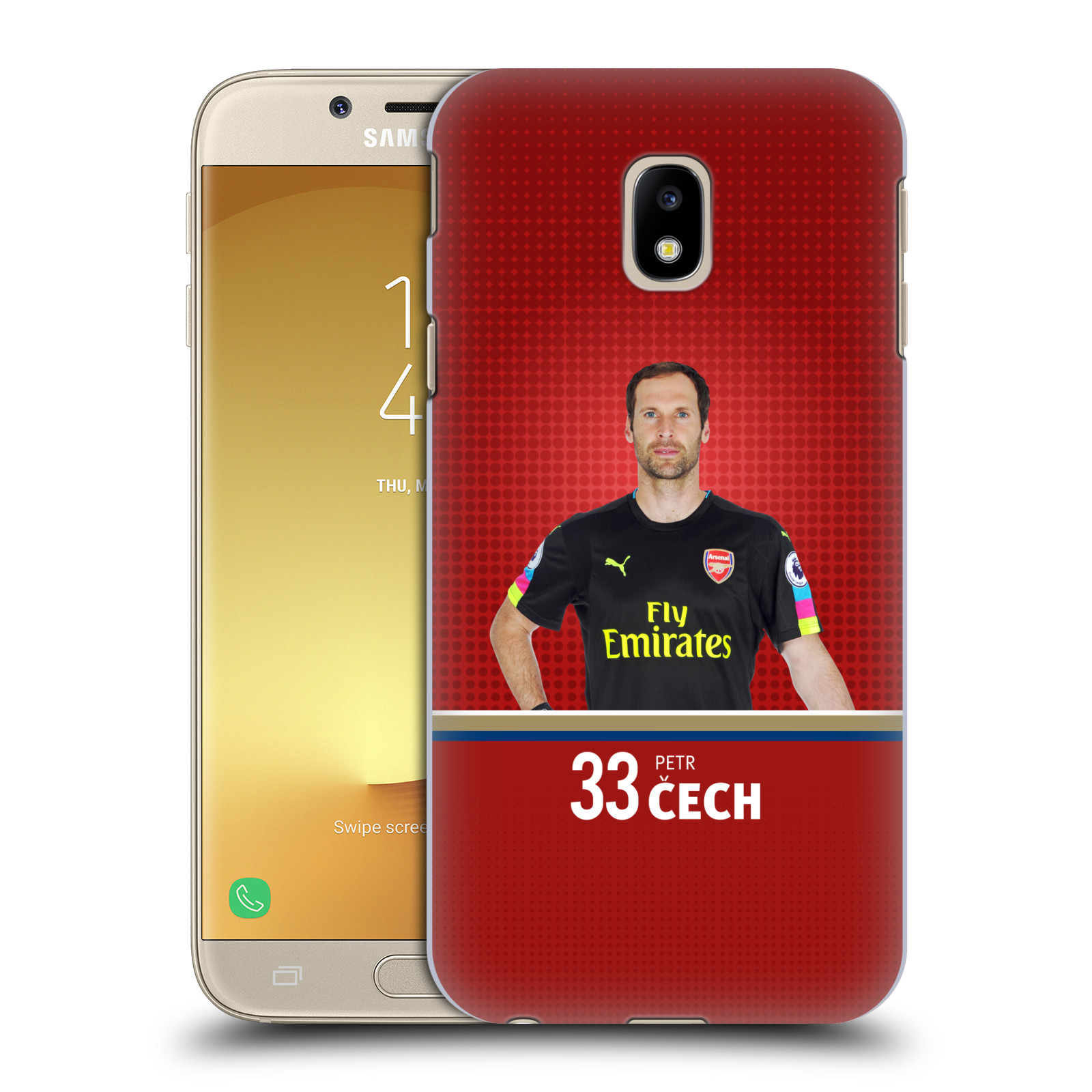 Plastové pouzdro na mobil Samsung Galaxy J3 (2017) - Head Case - Arsenal FC - Petr Čech