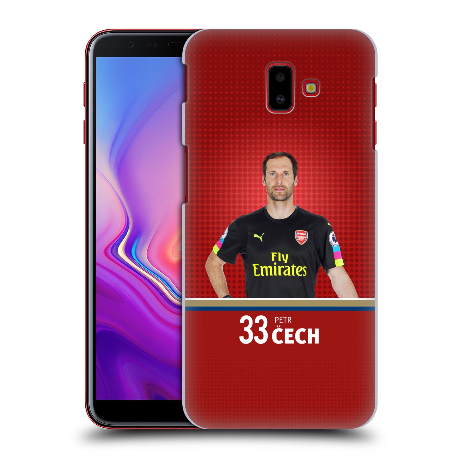 Plastové pouzdro na mobil Samsung Galaxy J6 Plus - Head Case - Arsenal FC - Petr Čech