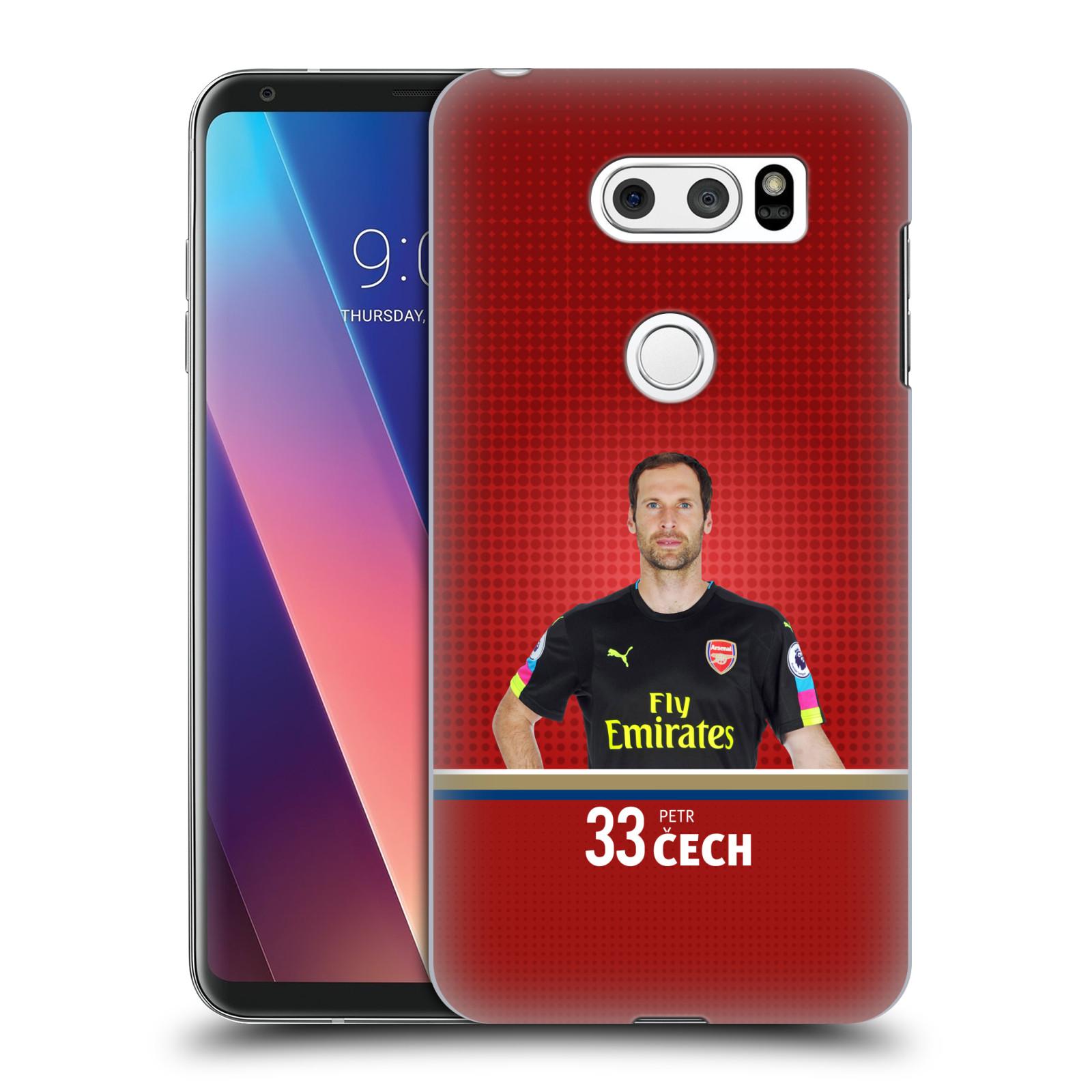 Plastové pouzdro na mobil LG V30 - Head Case - Arsenal FC - Petr Čech