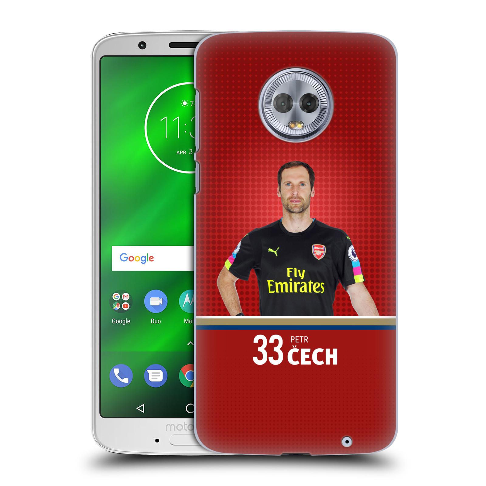 Plastové pouzdro na mobil Motorola Moto G6 Plus - Head Case - Arsenal FC - Petr Čech