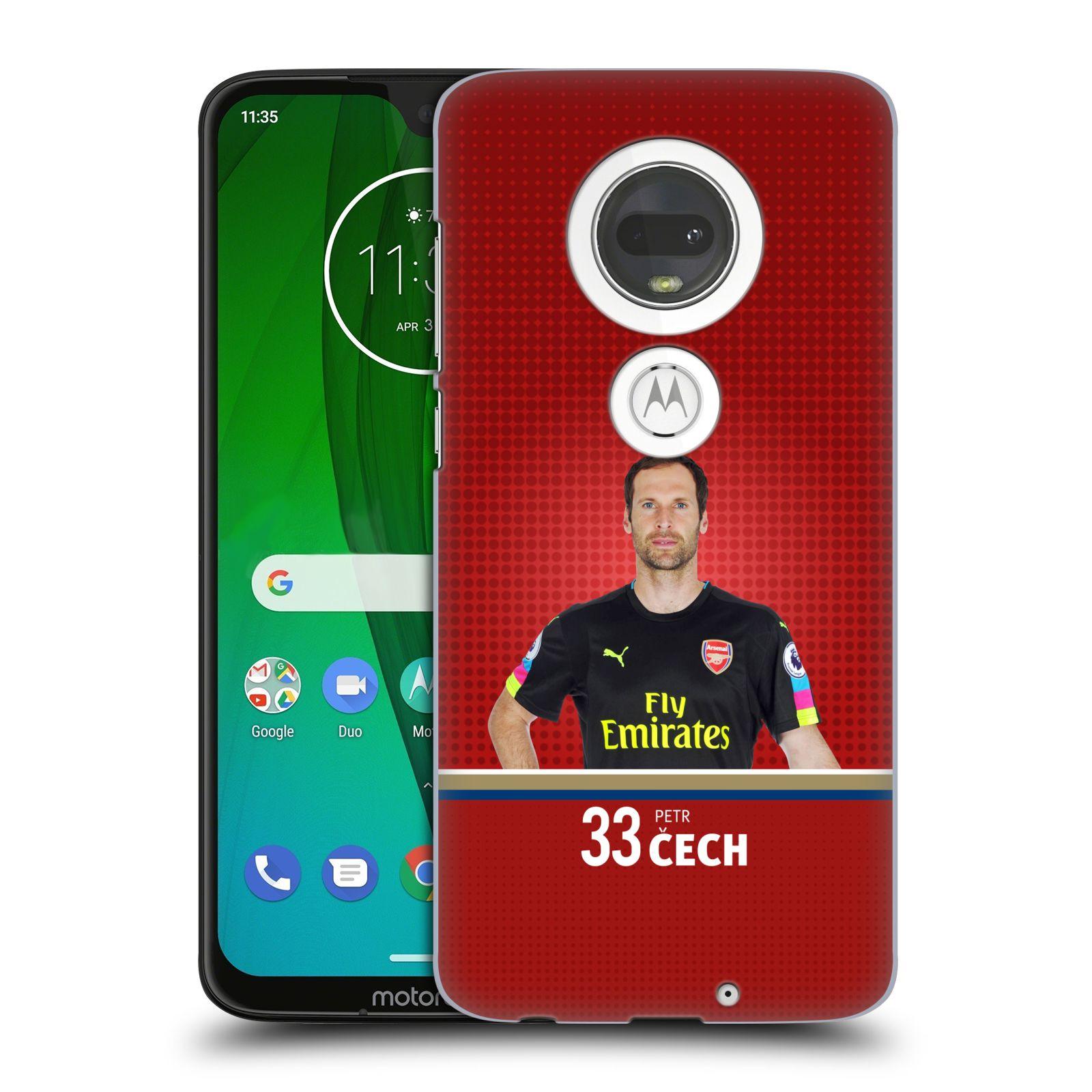 Plastové pouzdro na mobil Motorola Moto G7 - Head Case - Arsenal FC - Petr Čech