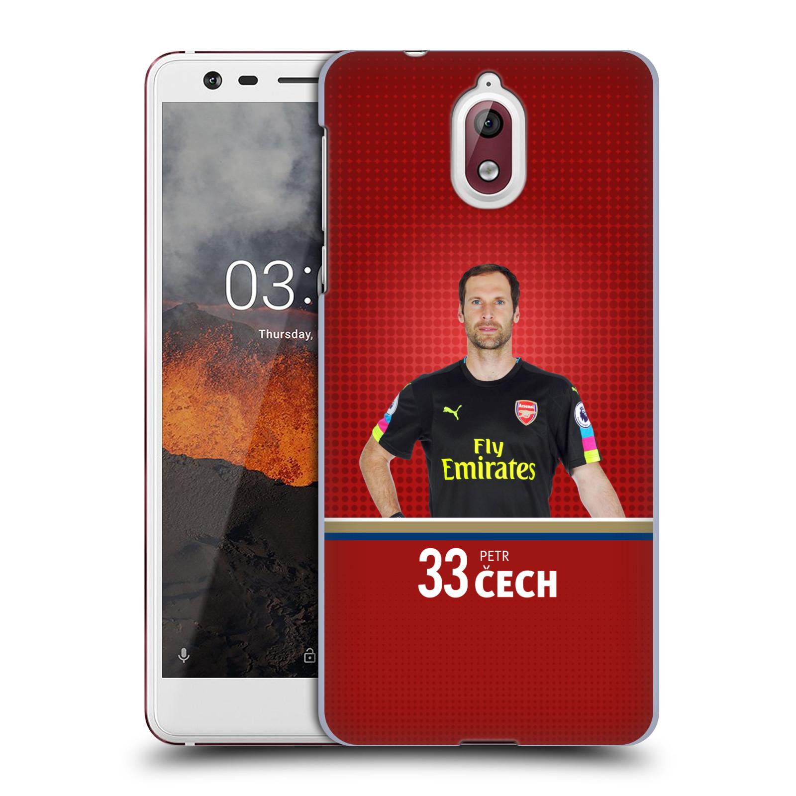 Plastové pouzdro na mobil Nokia 3.1 - Head Case - Arsenal FC - Petr Čech
