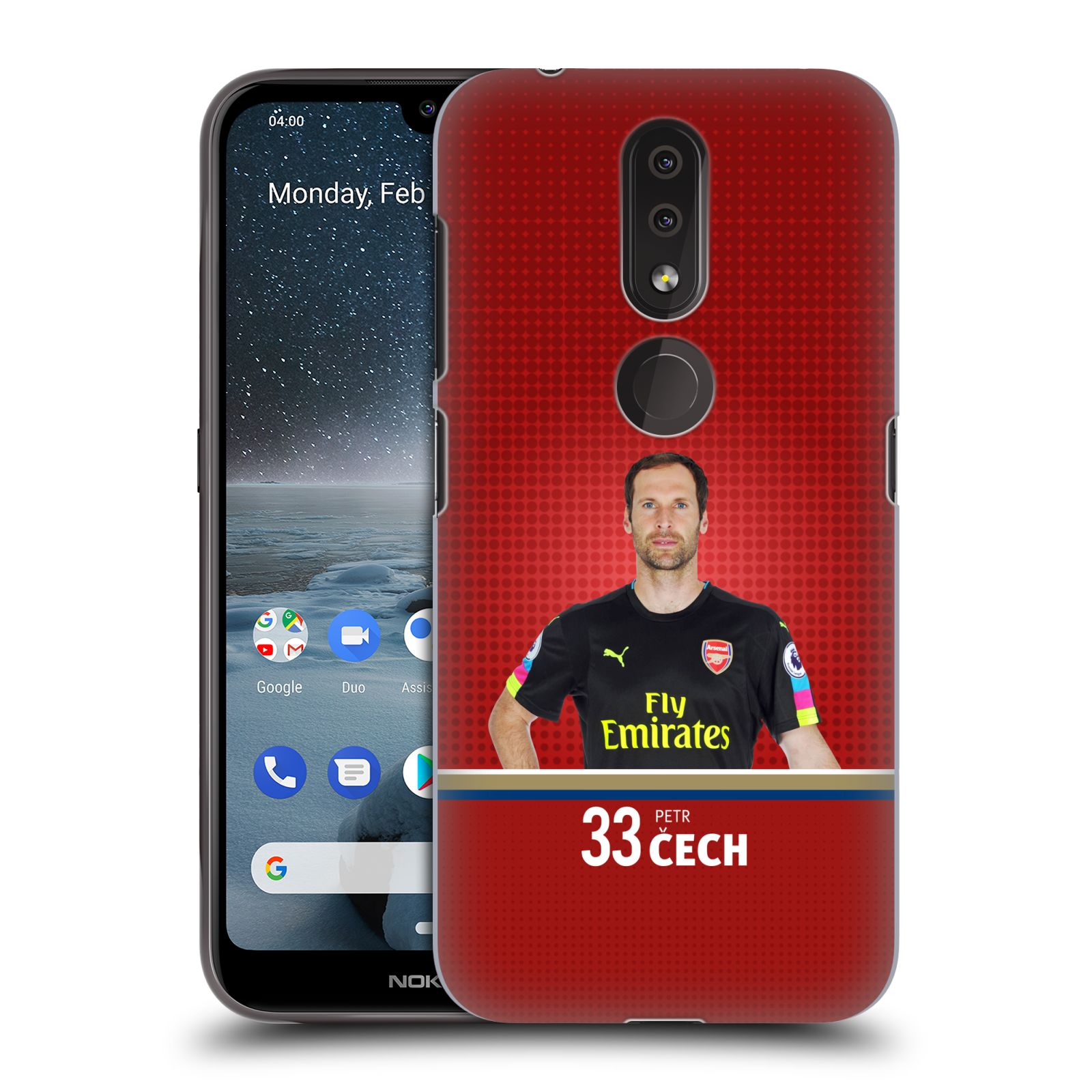 Plastové pouzdro na mobil Nokia 4.2 - Head Case - Arsenal FC - Petr Čech