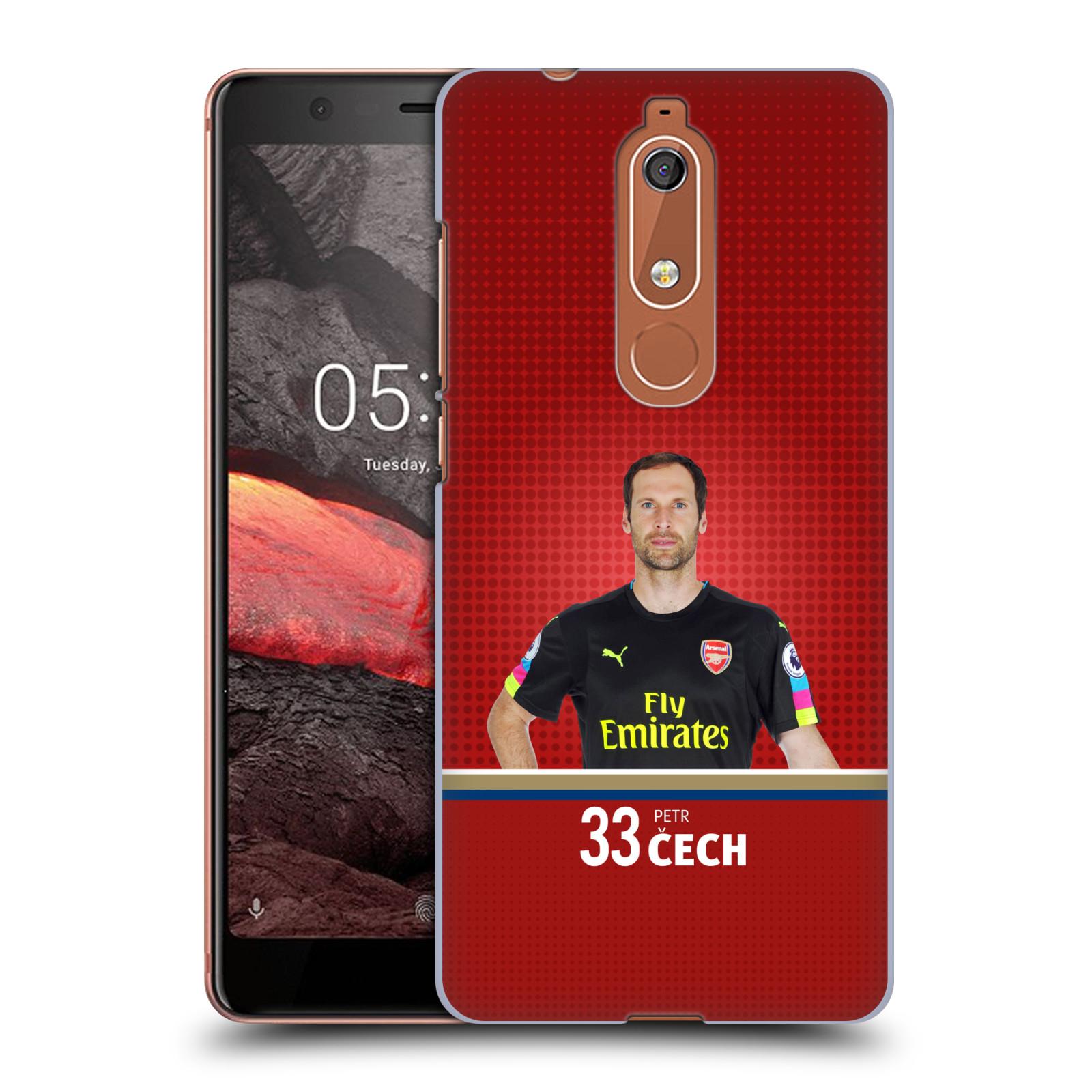 Plastové pouzdro na mobil Nokia 5.1 - Head Case - Arsenal FC - Petr Čech