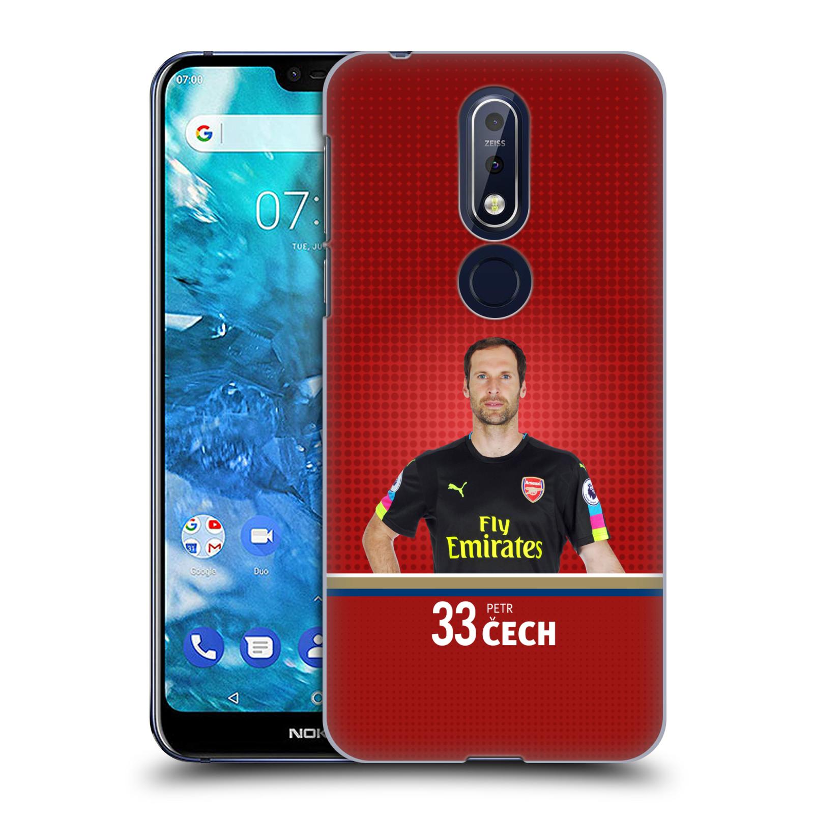 Plastové pouzdro na mobil Nokia 7.1 - Head Case - Arsenal FC - Petr Čech