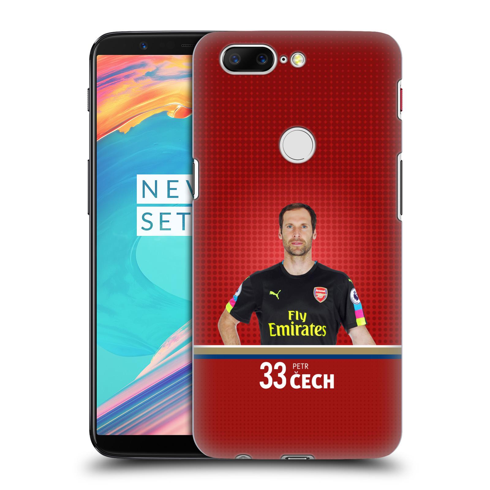 Plastové pouzdro na mobil OnePlus 5T - Head Case - Arsenal FC - Petr Čech