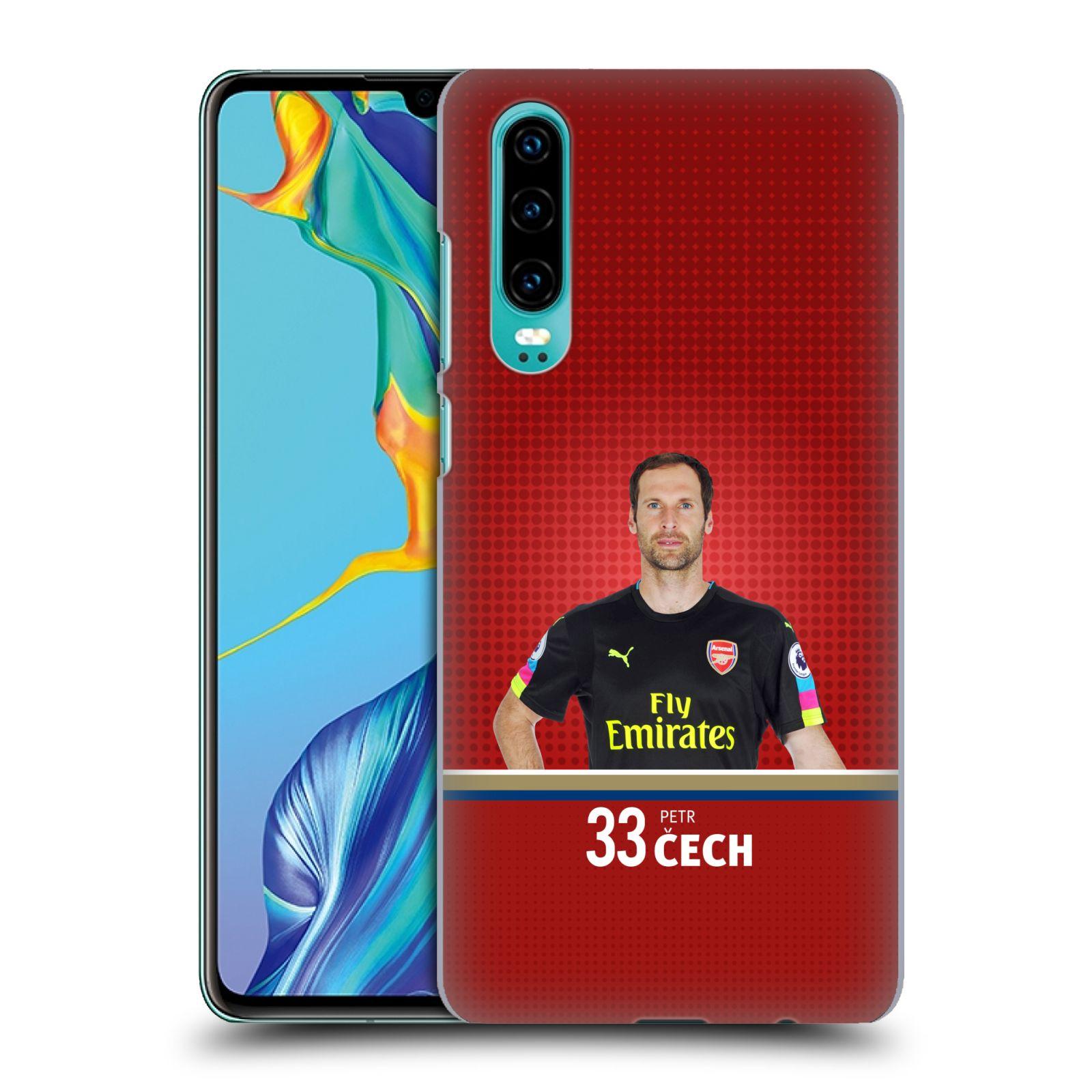Plastové pouzdro na mobil Huawei P30 - Head Case - Arsenal FC - Petr Čech