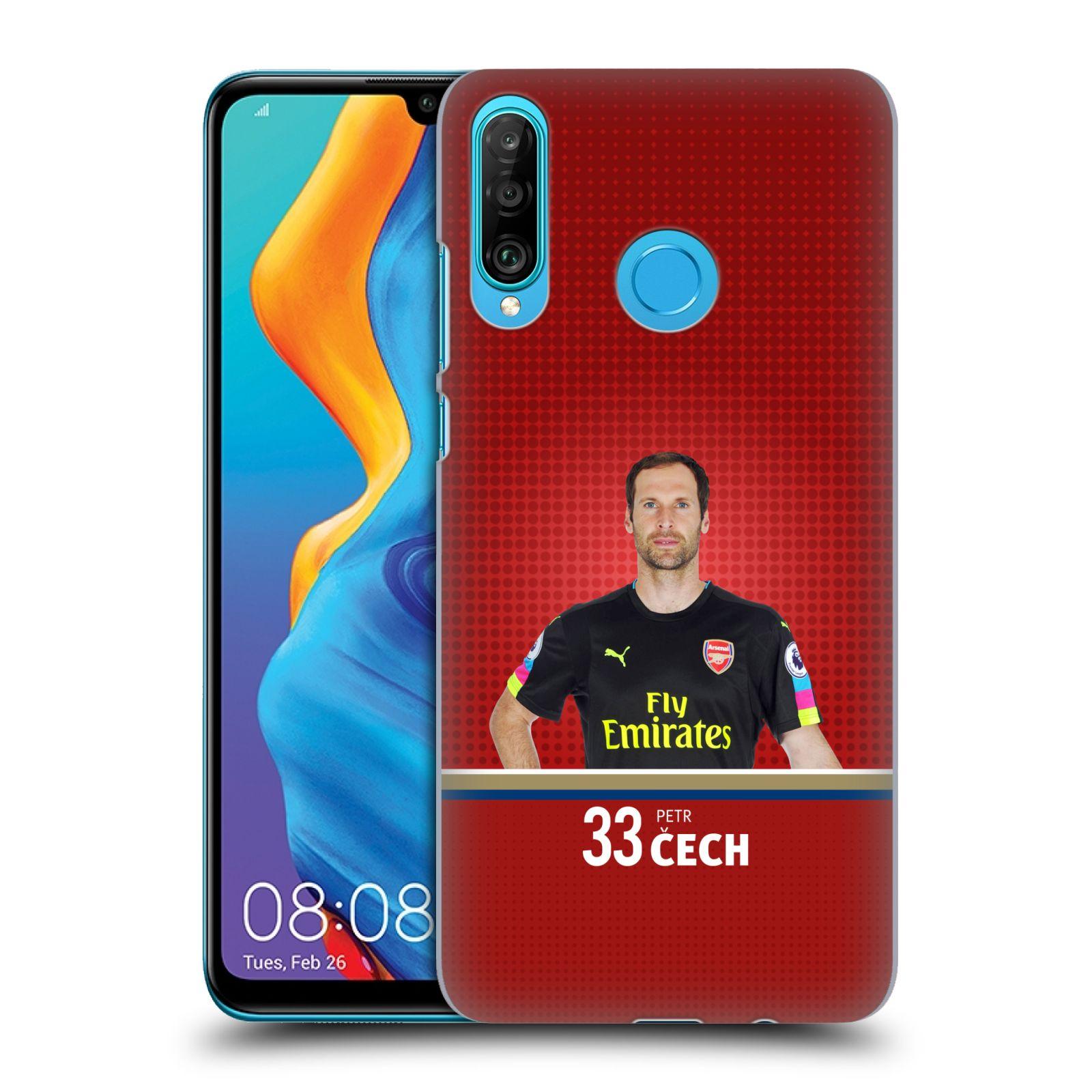Plastové pouzdro na mobil Huawei P30 Lite - Head Case - Arsenal FC - Petr Čech