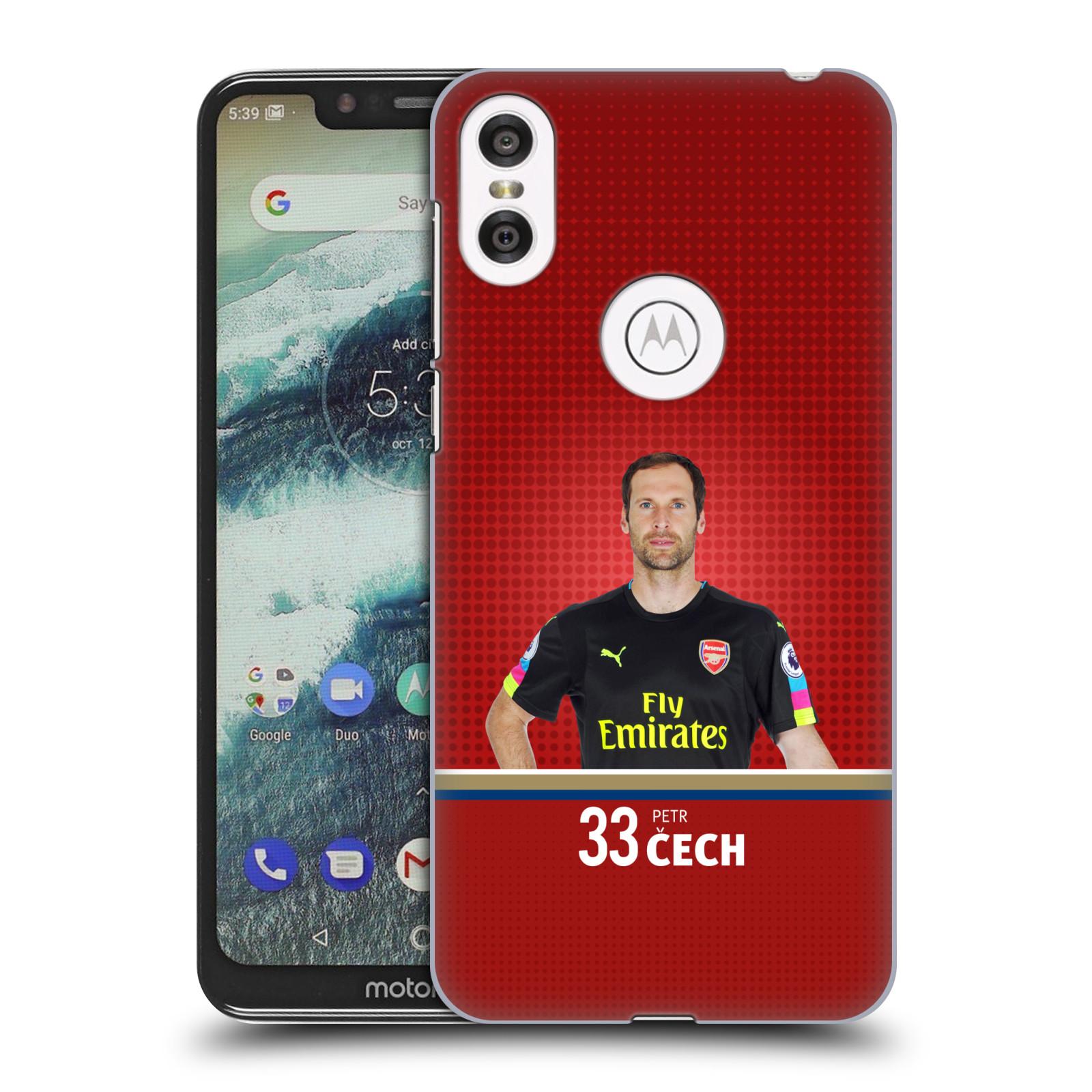 Plastové pouzdro na mobil Motorola One - Head Case - Arsenal FC - Petr Čech