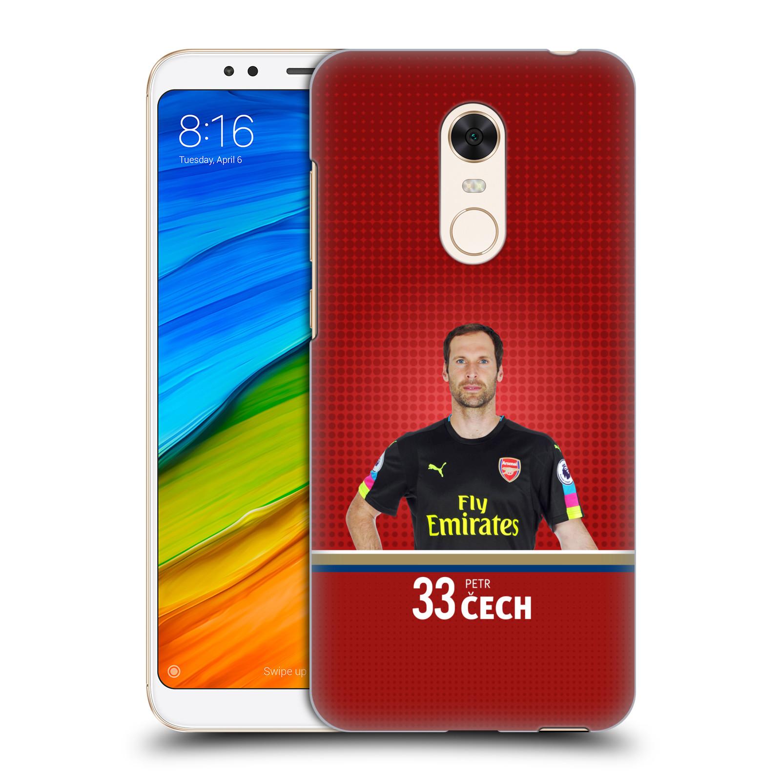 Plastové pouzdro na mobil Xiaomi Redmi 5 Plus - Head Case - Arsenal FC - Petr Čech