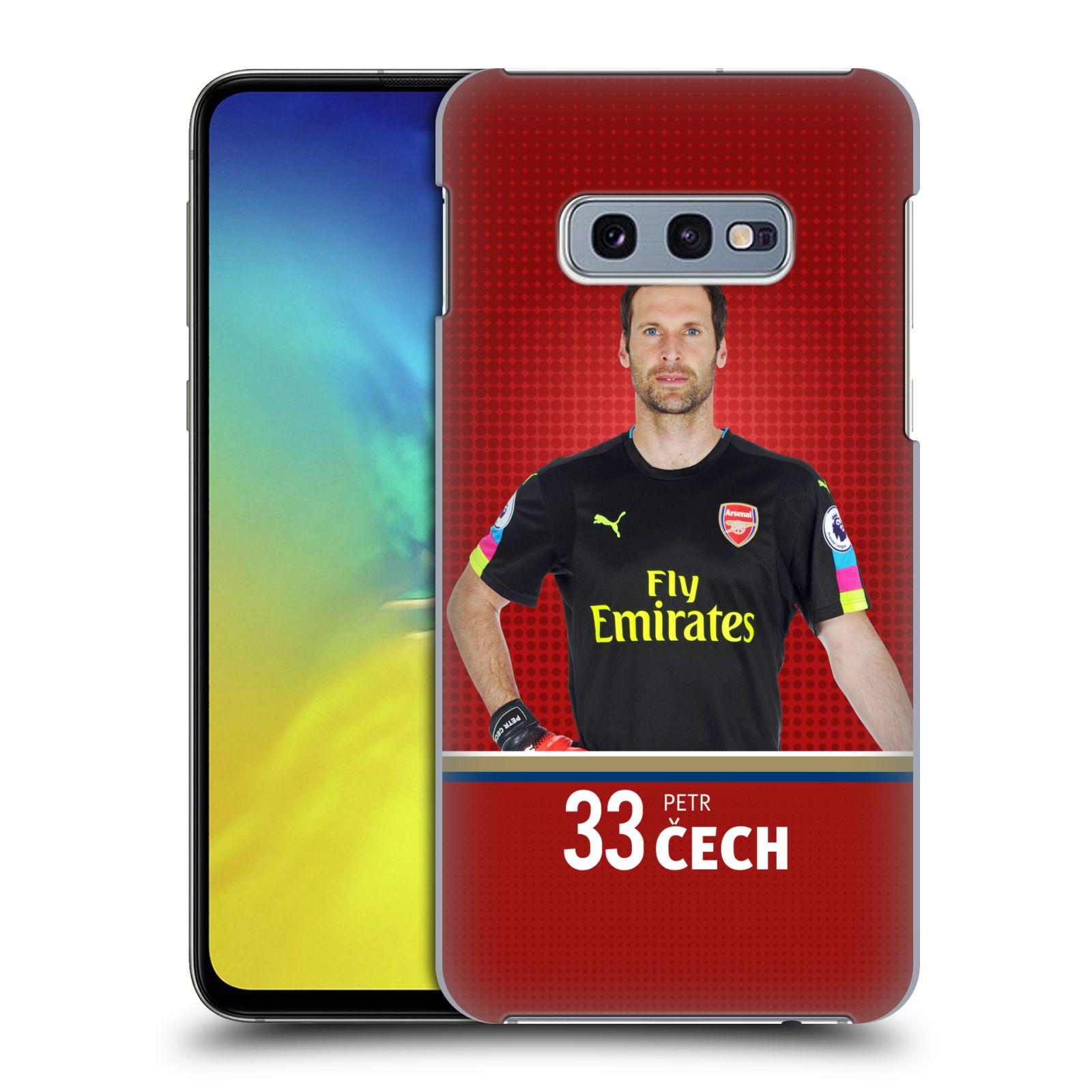 Plastové pouzdro na mobil Samsung Galaxy S10e - Head Case - Arsenal FC - Petr Čech