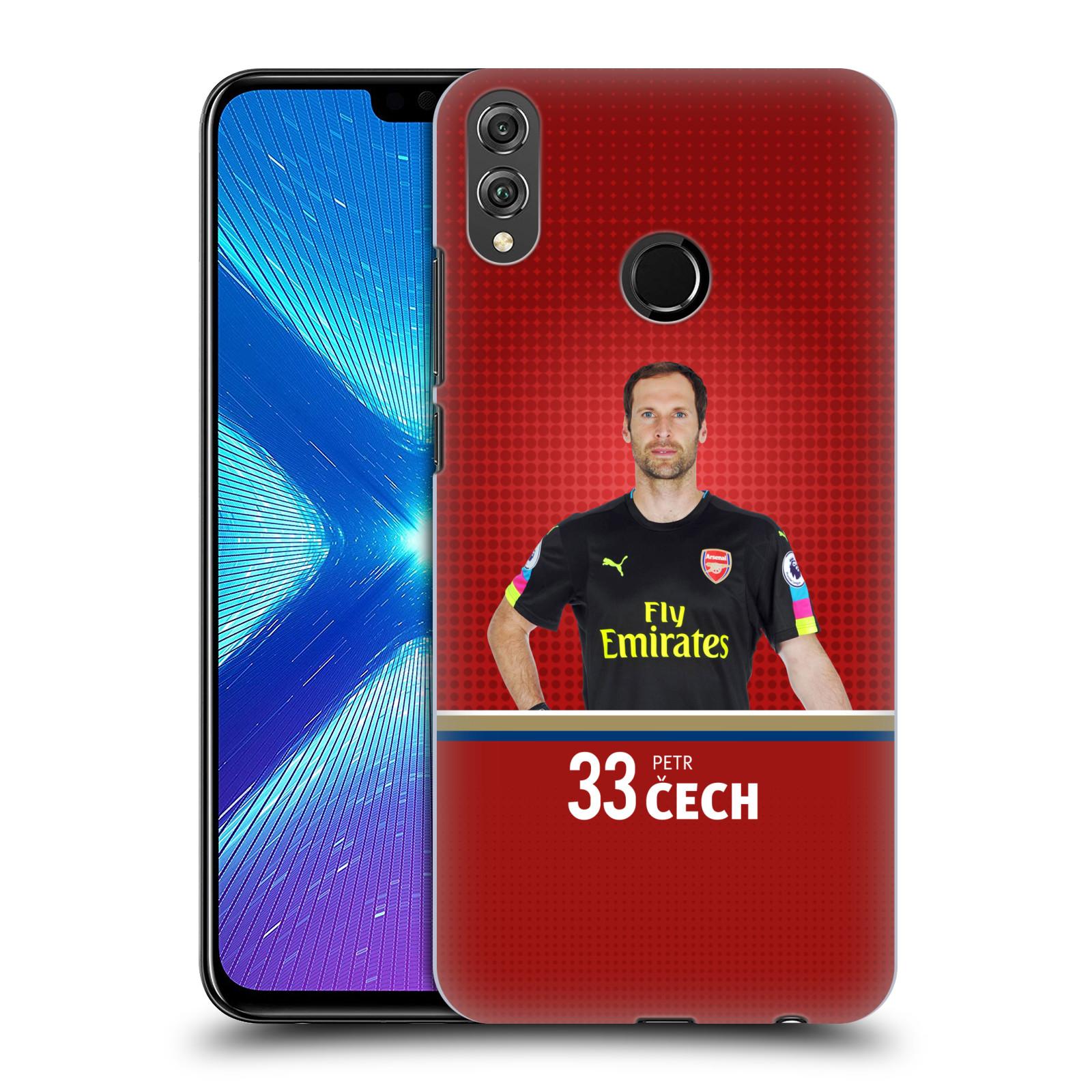 Plastové pouzdro na mobil Honor 8X - Head Case - Arsenal FC - Petr Čech