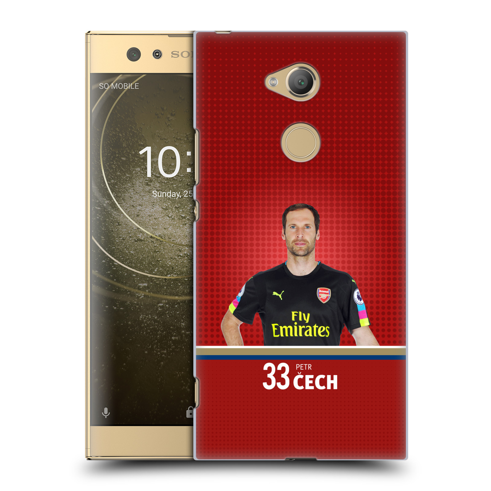 Plastové pouzdro na mobil Sony Xperia XA2 Ultra - Head Case - Arsenal FC - Petr Čech