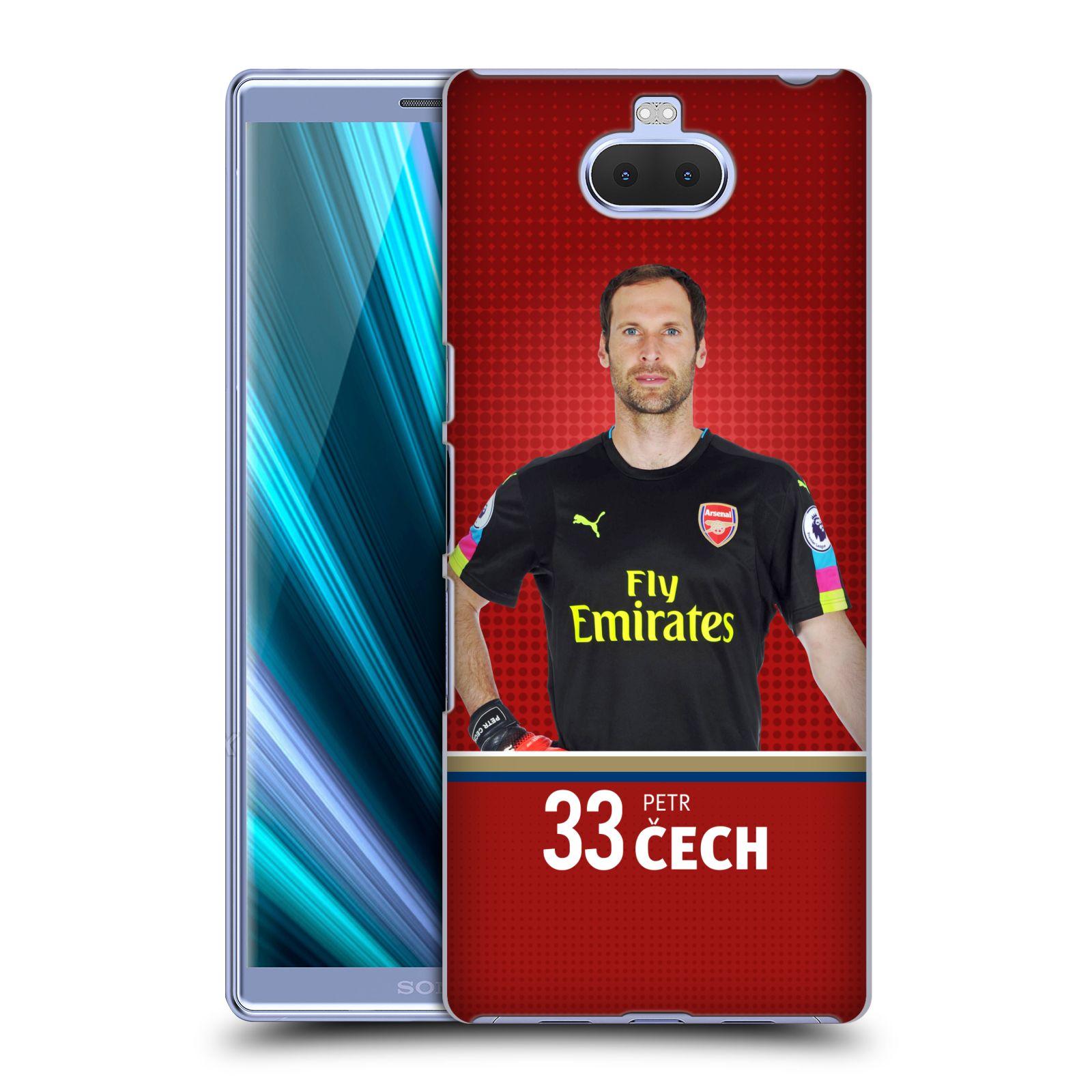 Plastové pouzdro na mobil Sony Xperia 10 Plus - Head Case - Arsenal FC - Petr Čech