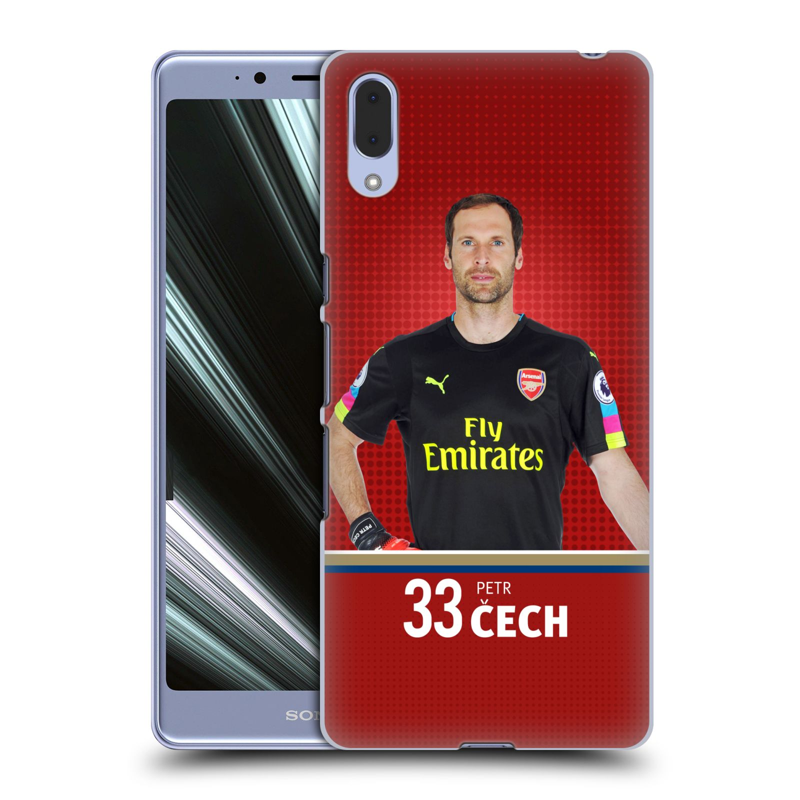 Plastové pouzdro na mobil Sony Xperia L3 - Head Case - Arsenal FC - Petr Čech
