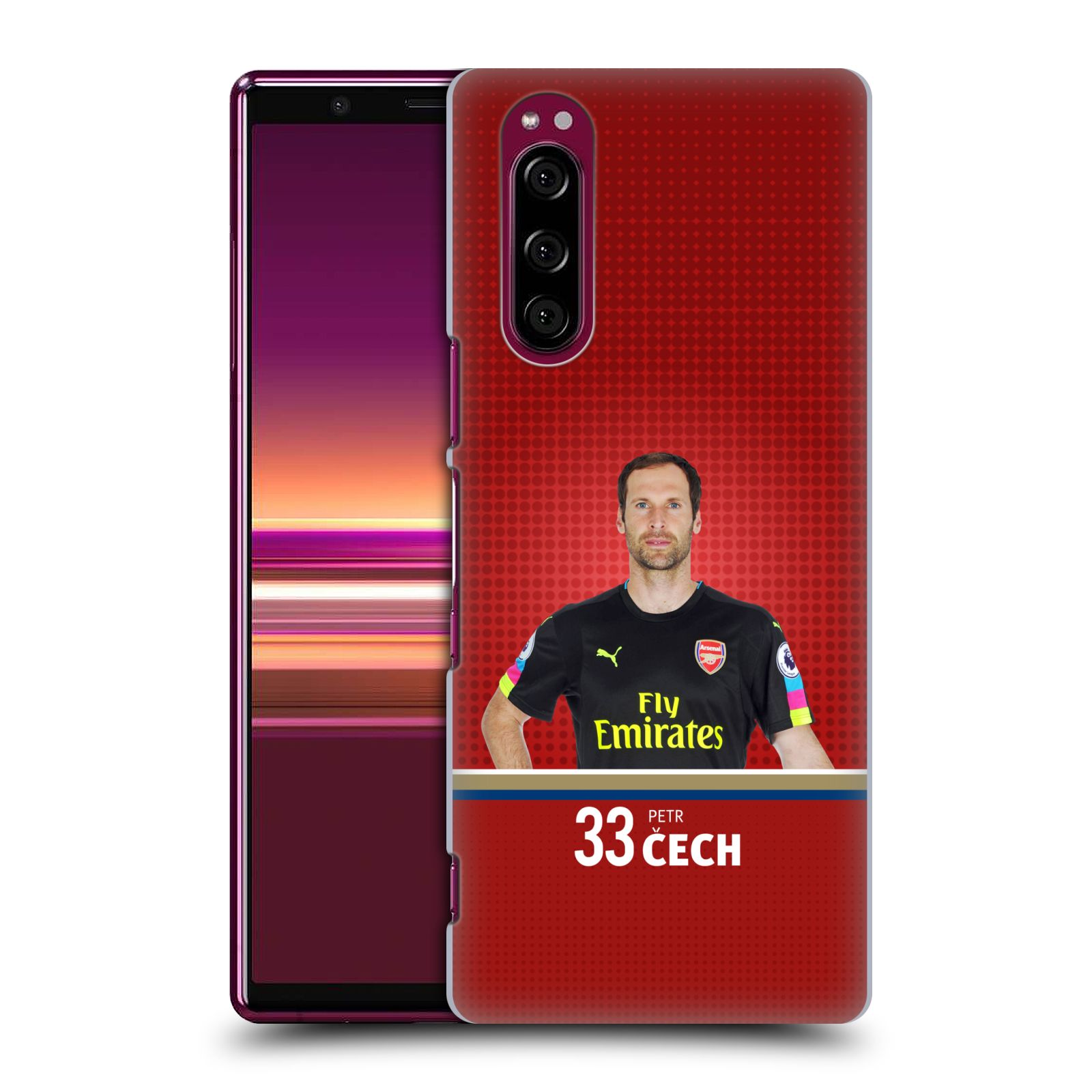 Plastové pouzdro na mobil Sony Xperia 5 - Head Case - Arsenal FC - Petr Čech