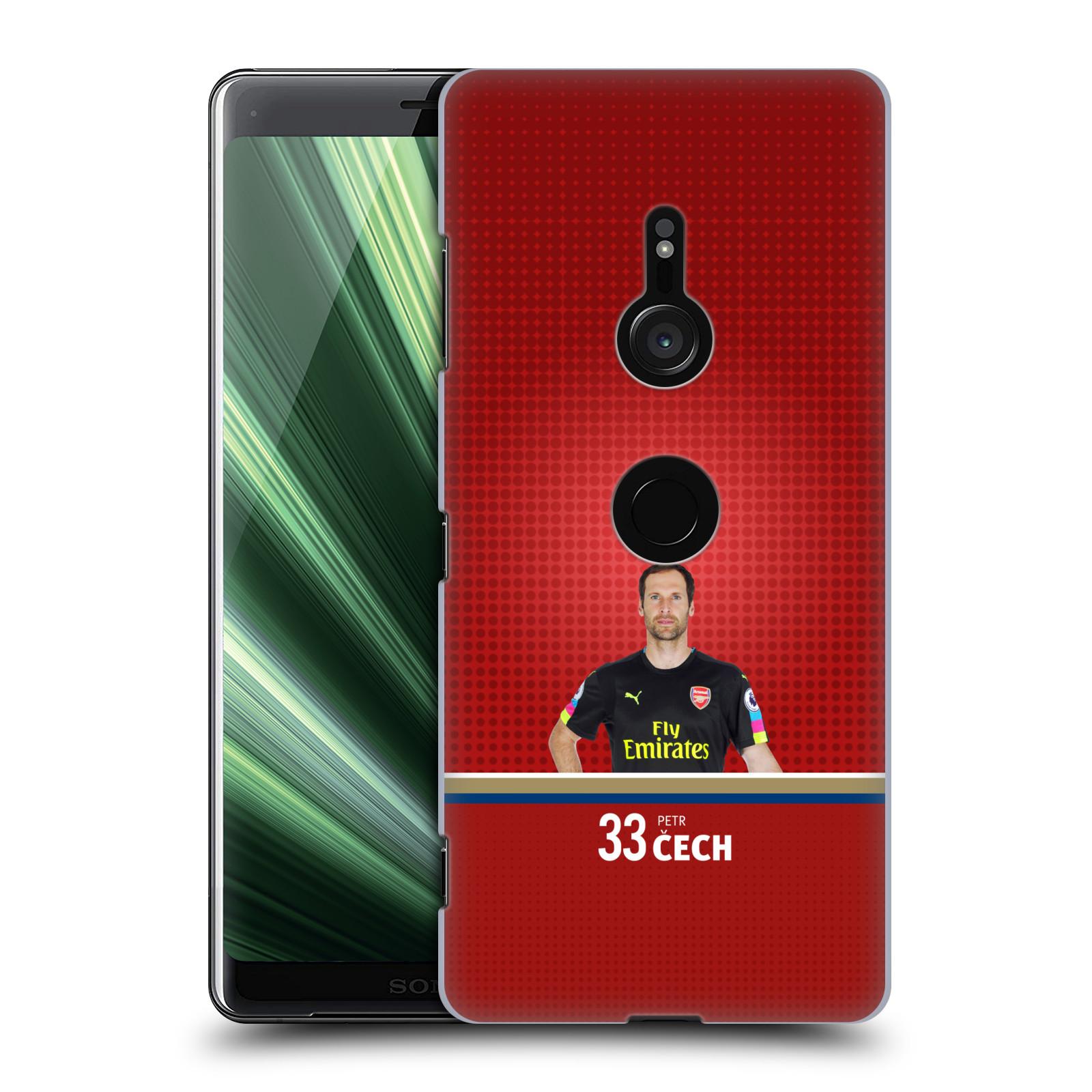 Plastové pouzdro na mobil Sony Xperia XZ3 - Head Case - Arsenal FC - Petr Čech