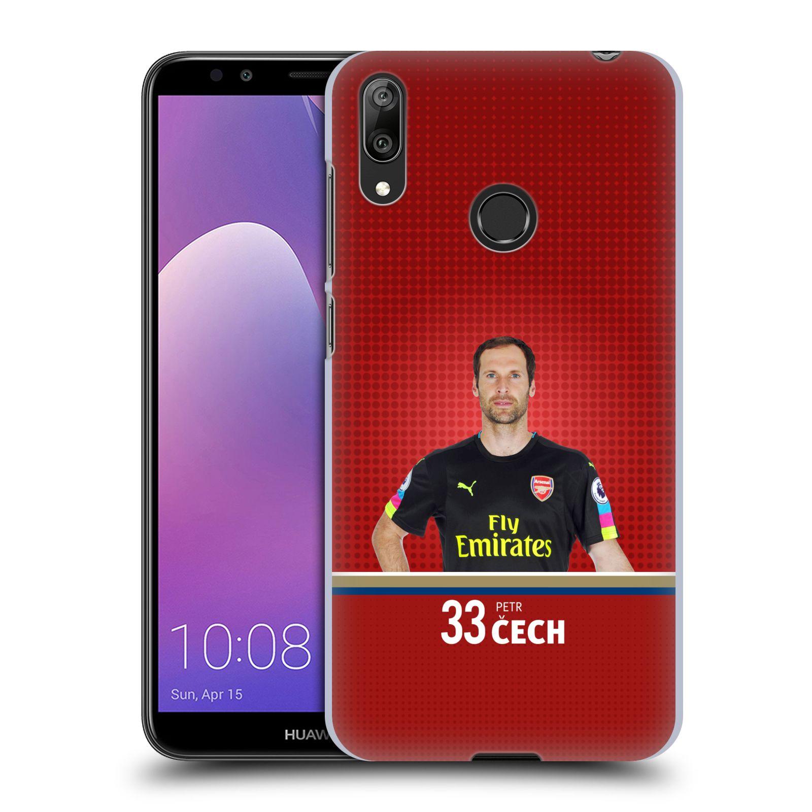 Plastové pouzdro na mobil Huawei Y7 (2019) - Head Case - Arsenal FC - Petr Čech