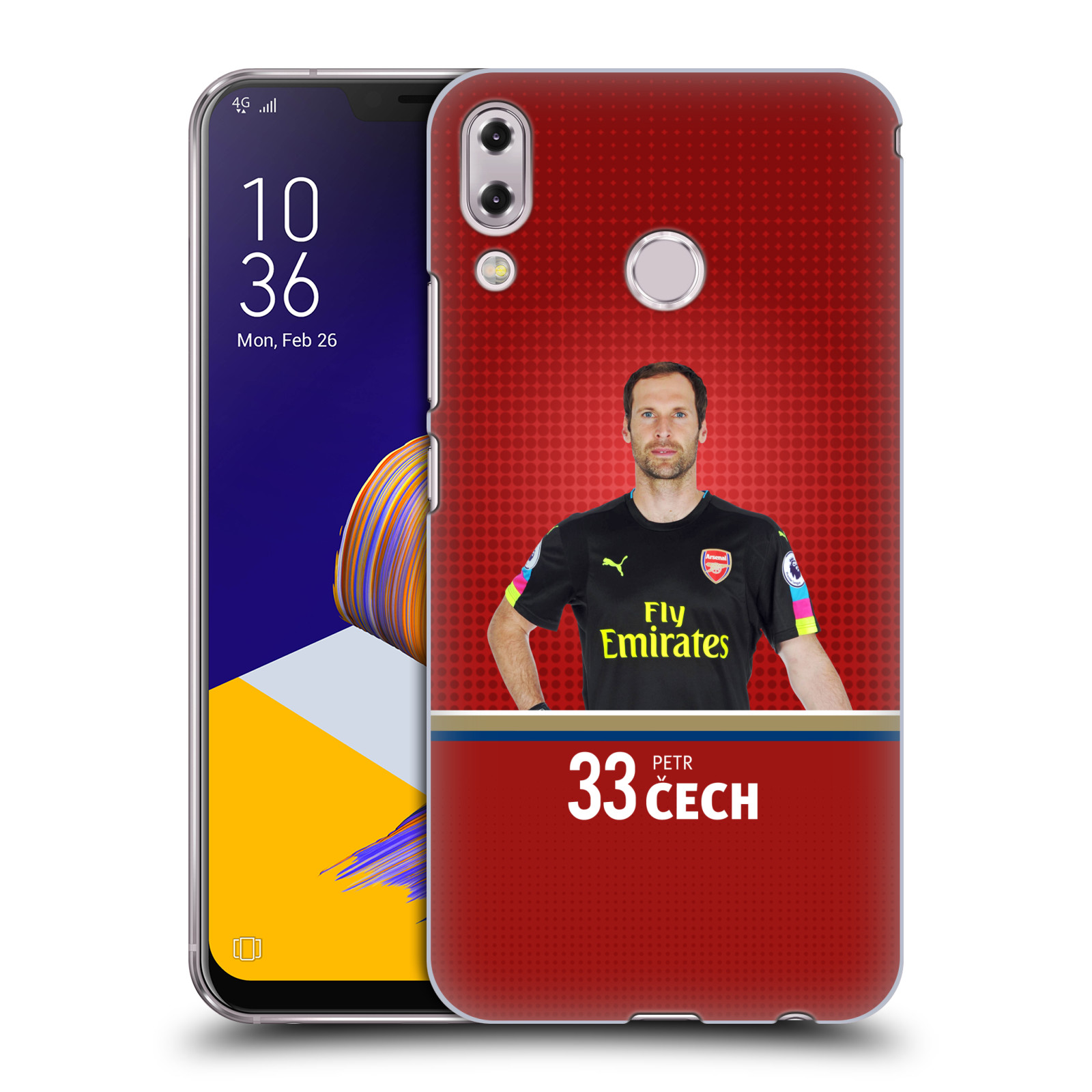 Plastové pouzdro na mobil Asus Zenfone 5z ZS620KL - Head Case - Arsenal FC - Petr Čech
