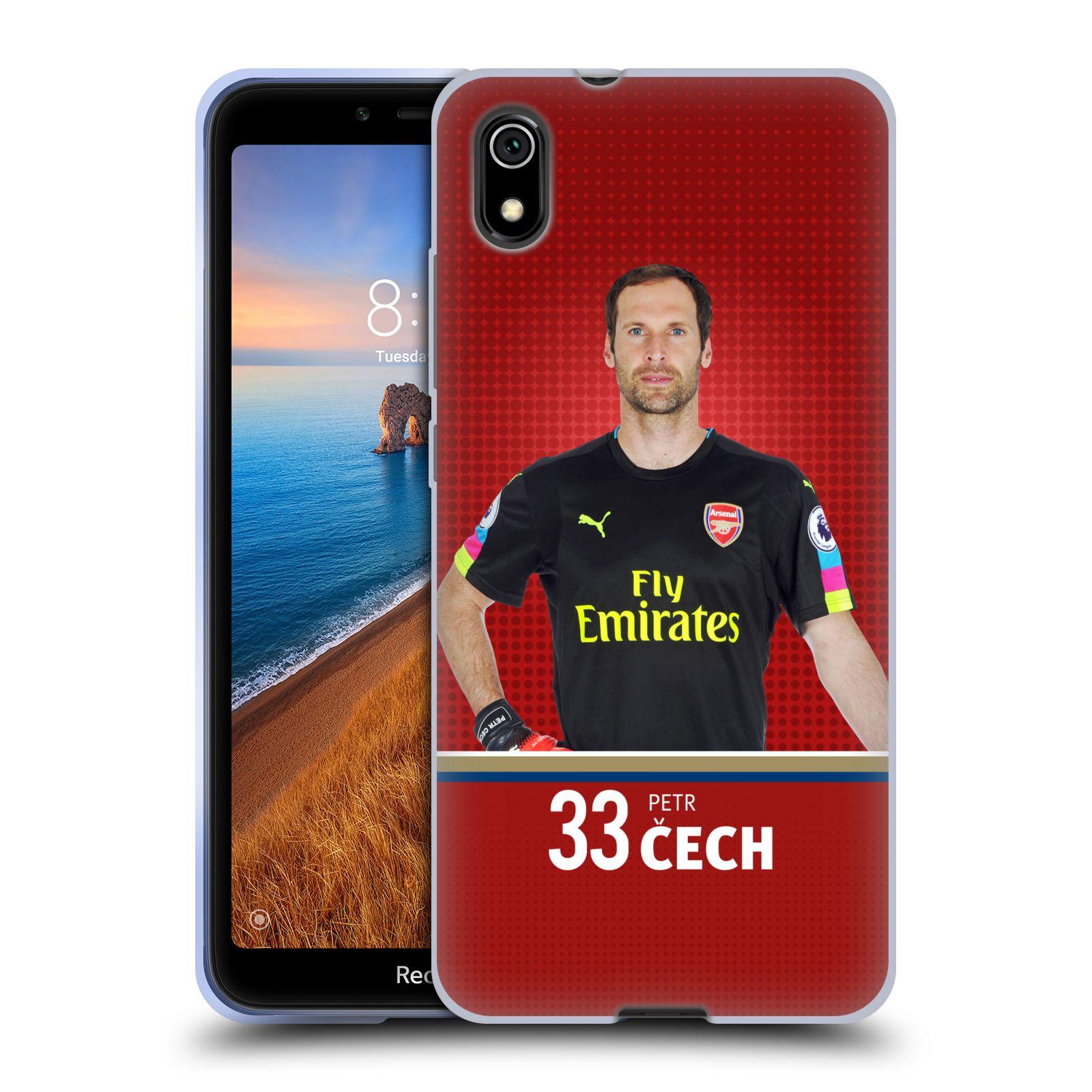 Silikonové pouzdro na mobil Redmi 7A - Head Case - Arsenal FC - Petr Čech