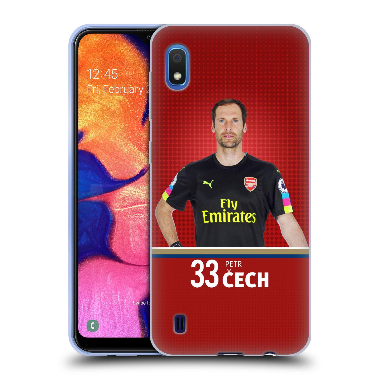 Silikonové pouzdro na mobil Samsung Galaxy A10 - Head Case - Arsenal FC - Petr Čech