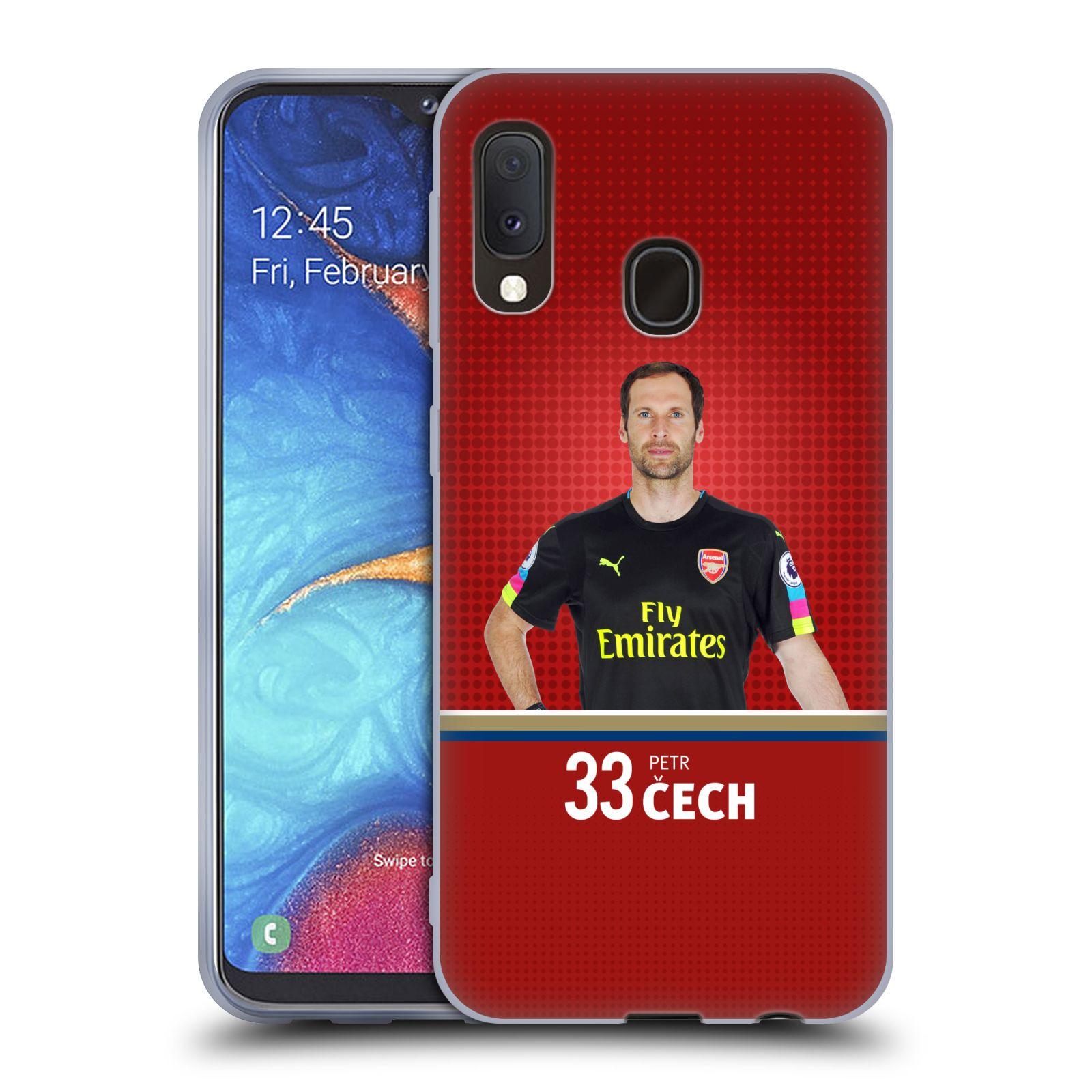 Silikonové pouzdro na mobil Samsung Galaxy A20e - Head Case - Arsenal FC - Petr Čech