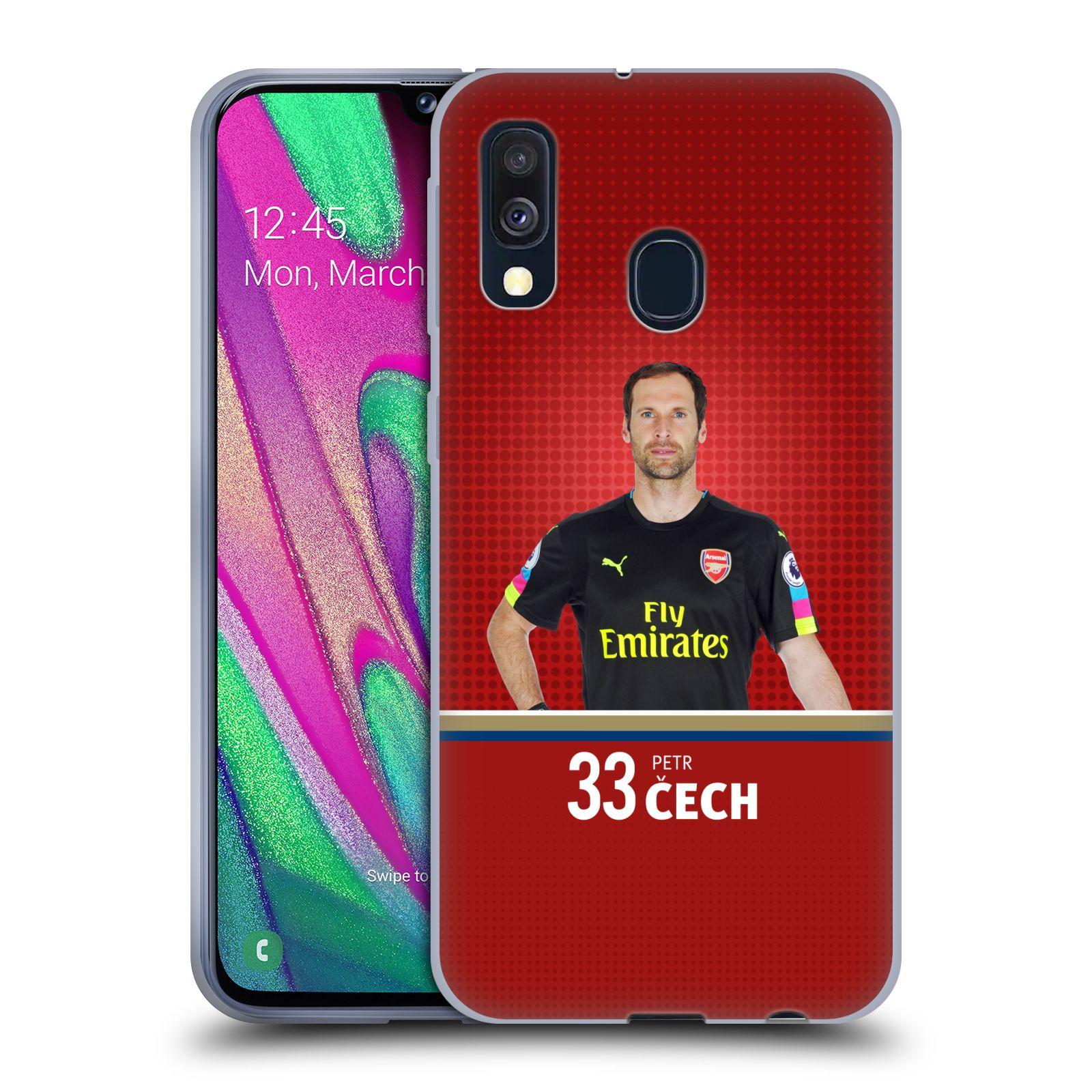 Silikonové pouzdro na mobil Samsung Galaxy A40 - Head Case - Arsenal FC - Petr Čech