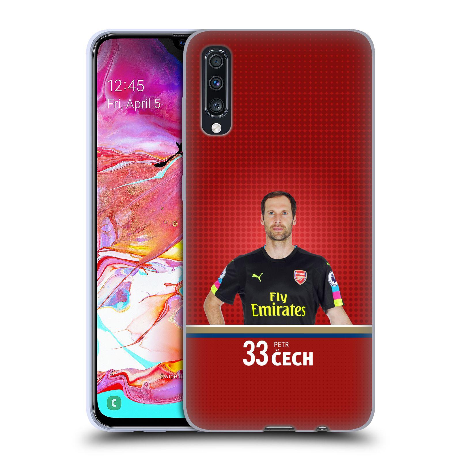 Silikonové pouzdro na mobil Samsung Galaxy A70 - Head Case - Arsenal FC - Petr Čech