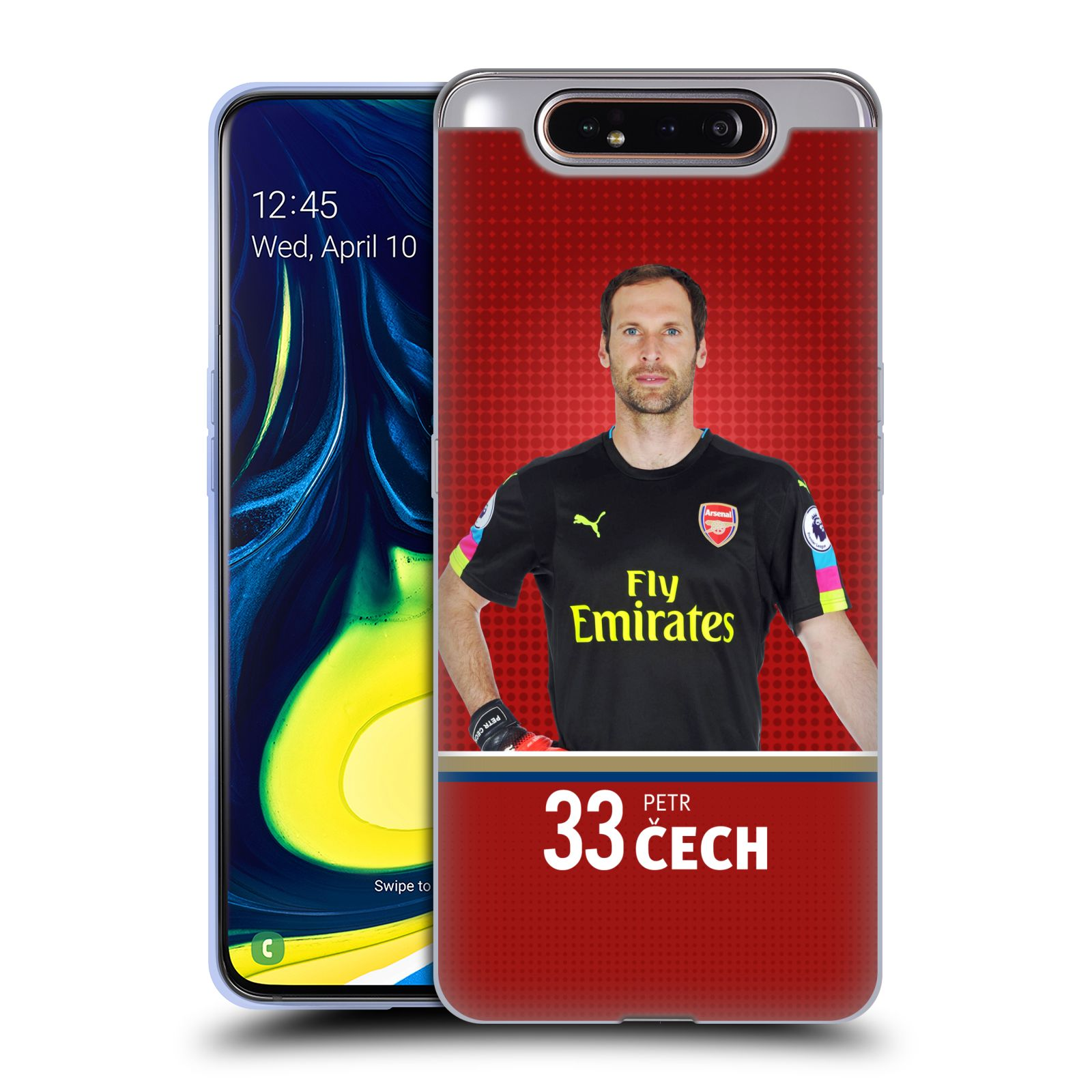 Silikonové pouzdro na mobil Samsung Galaxy A80 - Head Case - Arsenal FC - Petr Čech