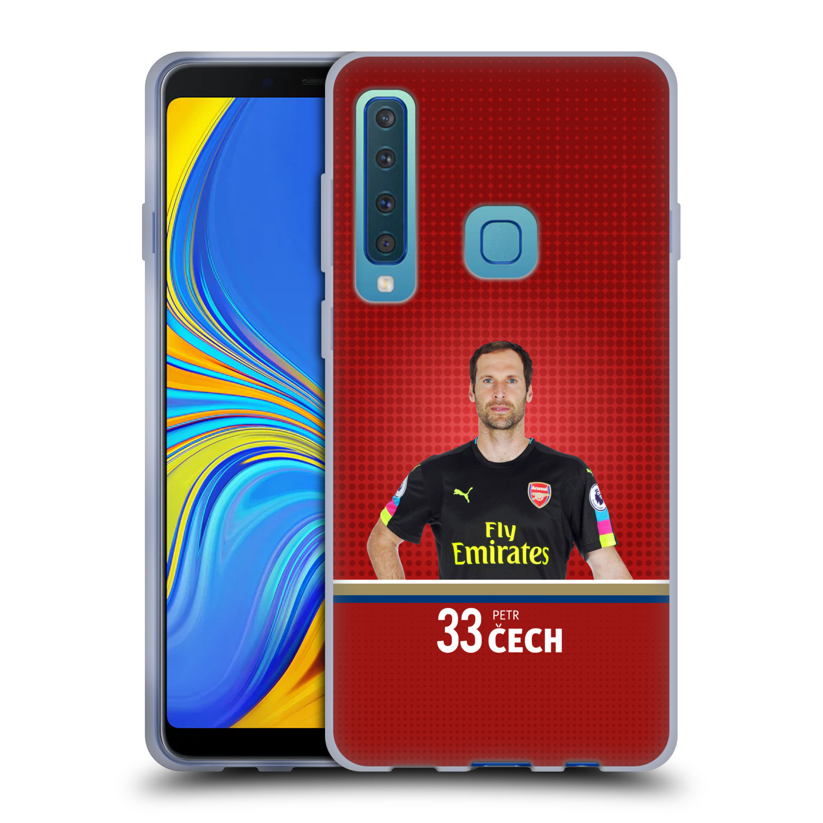 Silikonové pouzdro na mobil Samsung Galaxy A9 (2018) - Head Case - Arsenal FC - Petr Čech