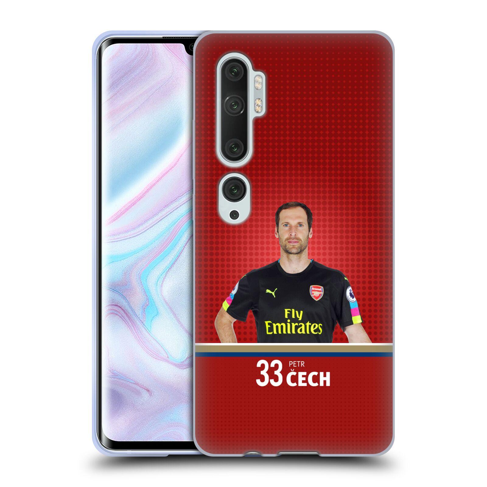 Silikonové pouzdro na mobil Xiaomi Mi Note 10 / 10 Pro - Head Case - Arsenal FC - Petr Čech