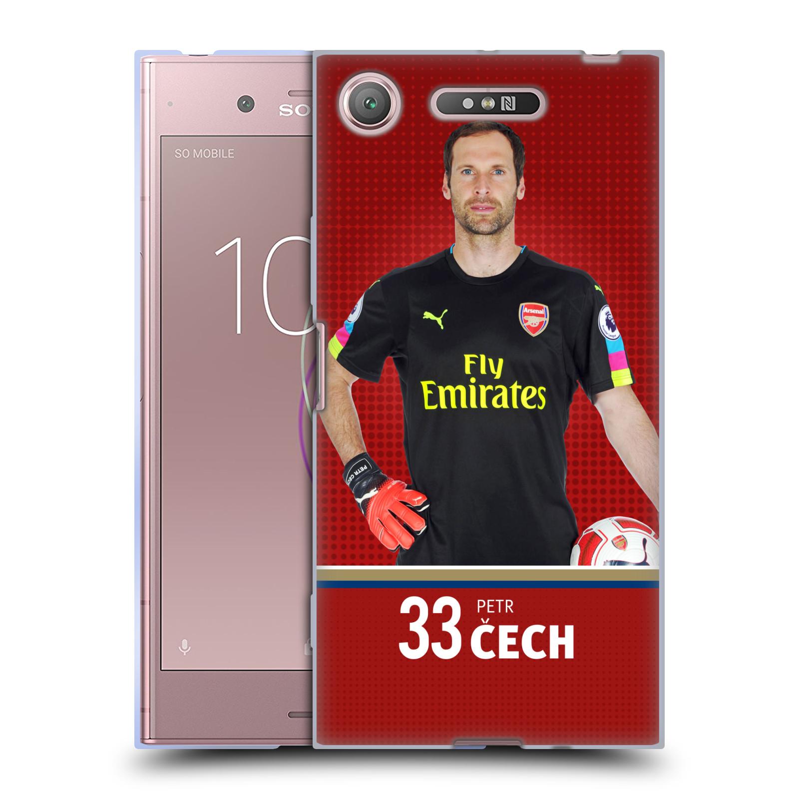 Silikonové pouzdro na mobil Sony Xperia XZ1 - Head Case - Arsenal FC - Petr Čech